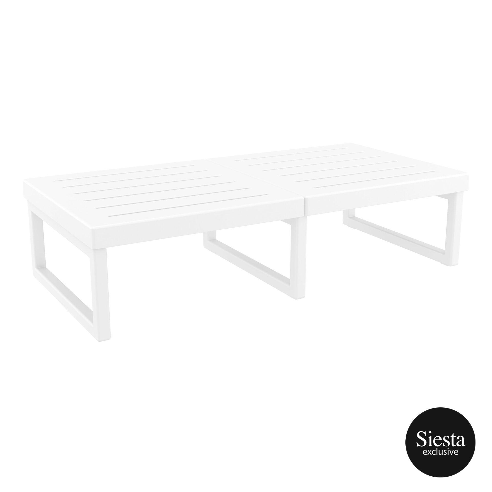 mykonos resort lounge table xl white front side 2