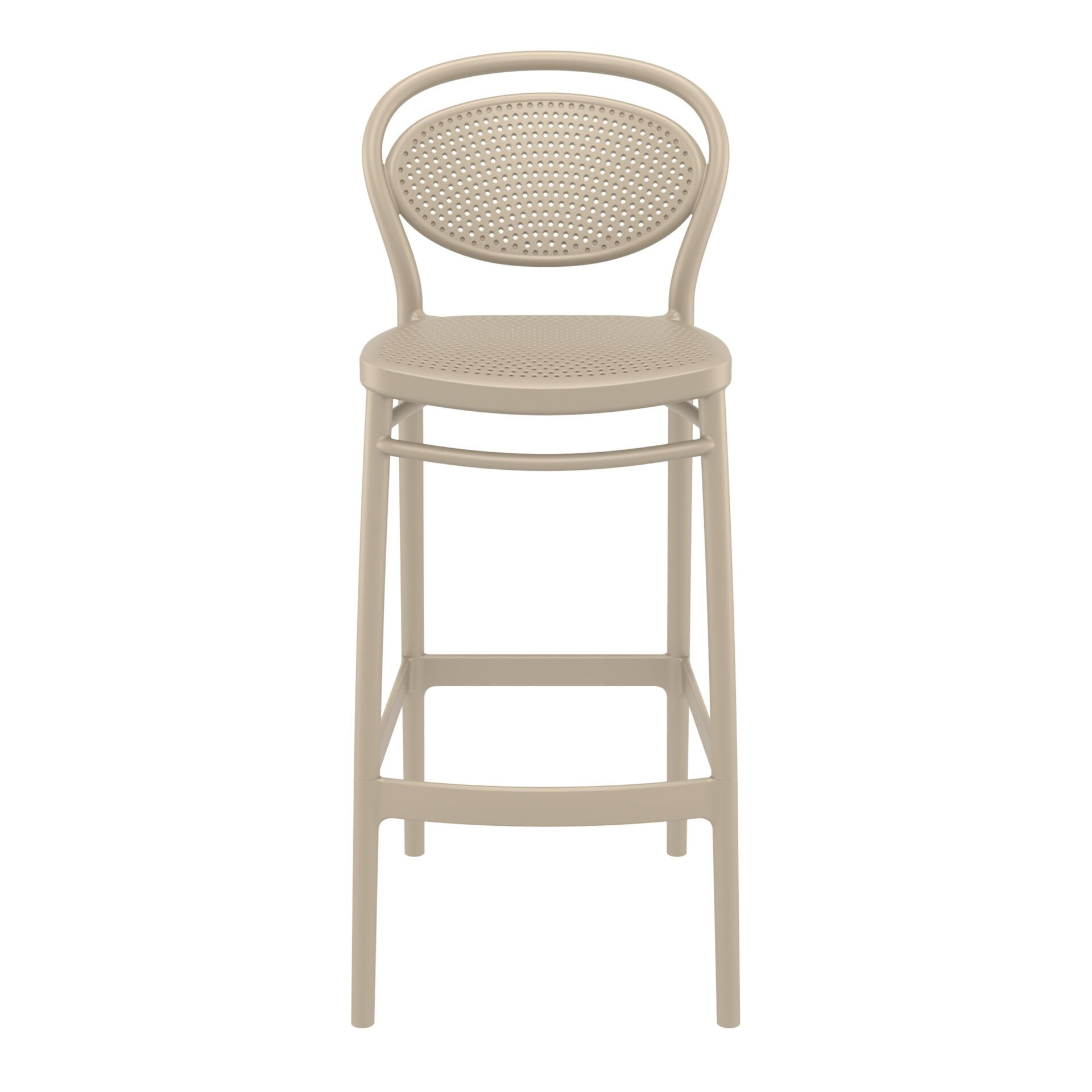 plastic bar marcel barstool 75 taupe front
