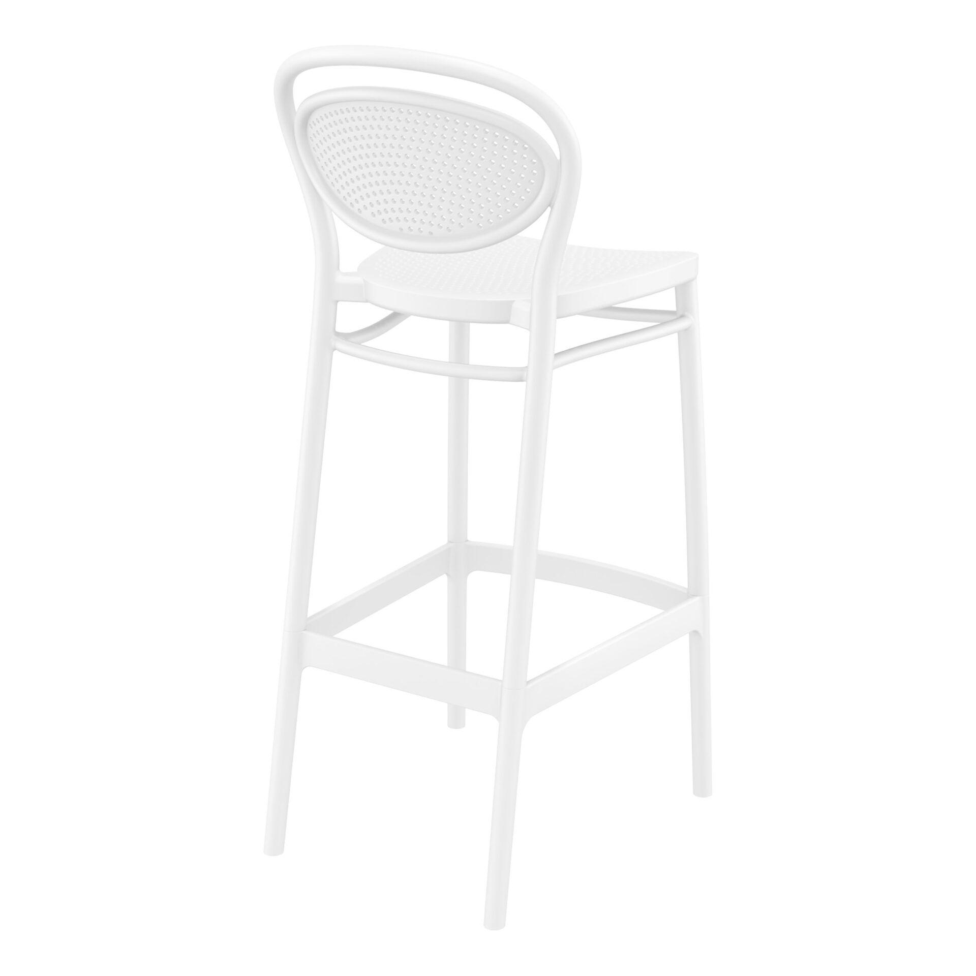 plastic bar marcel barstool 75 white back side