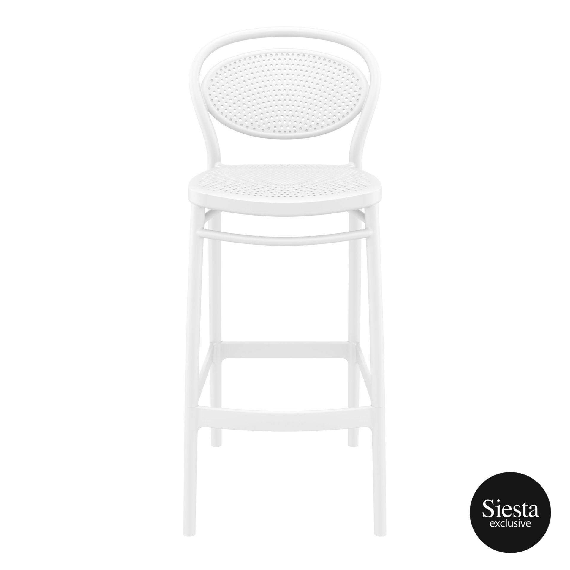 plastic bar marcel barstool 75 white front 1