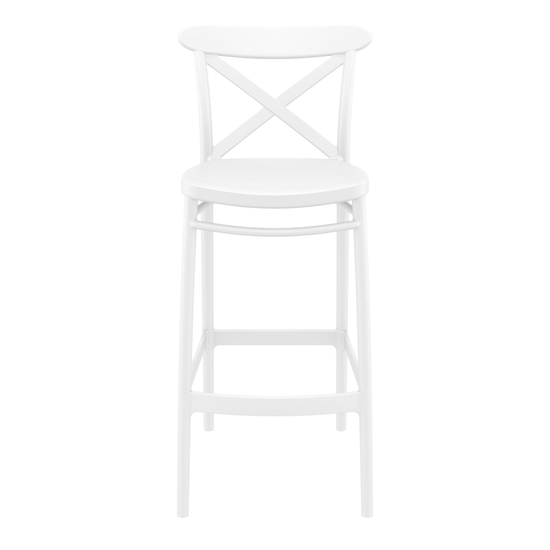 polypropylene bar cross barstool 75 white front