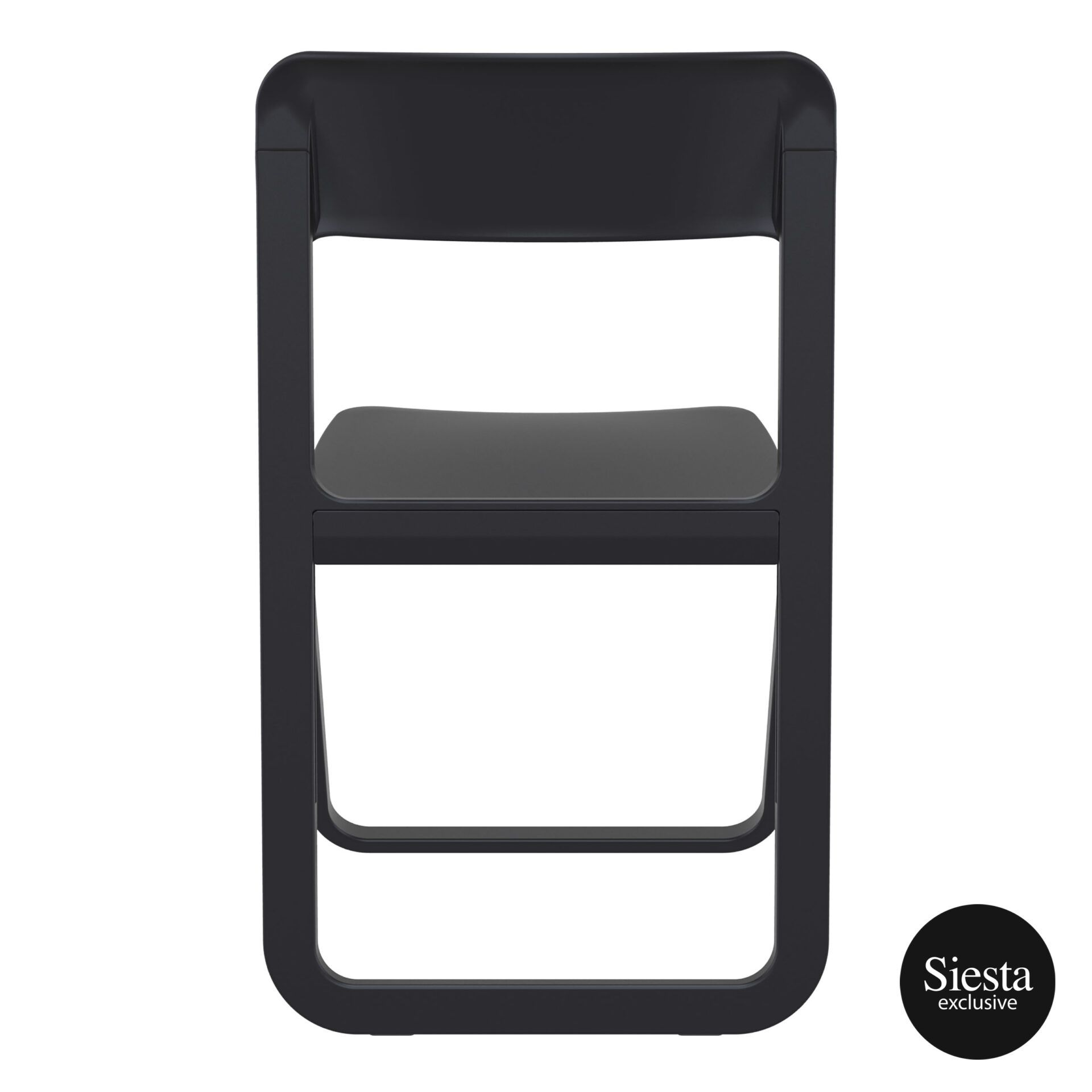 polypropylene dream folding chair black back 1