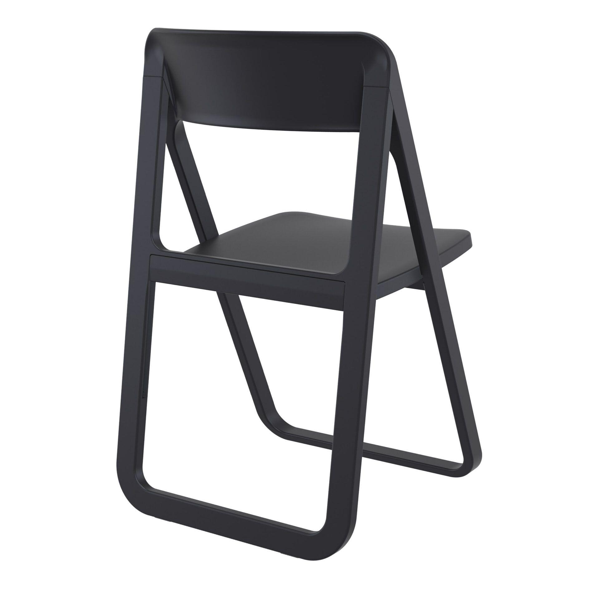 polypropylene dream folding chair black back side