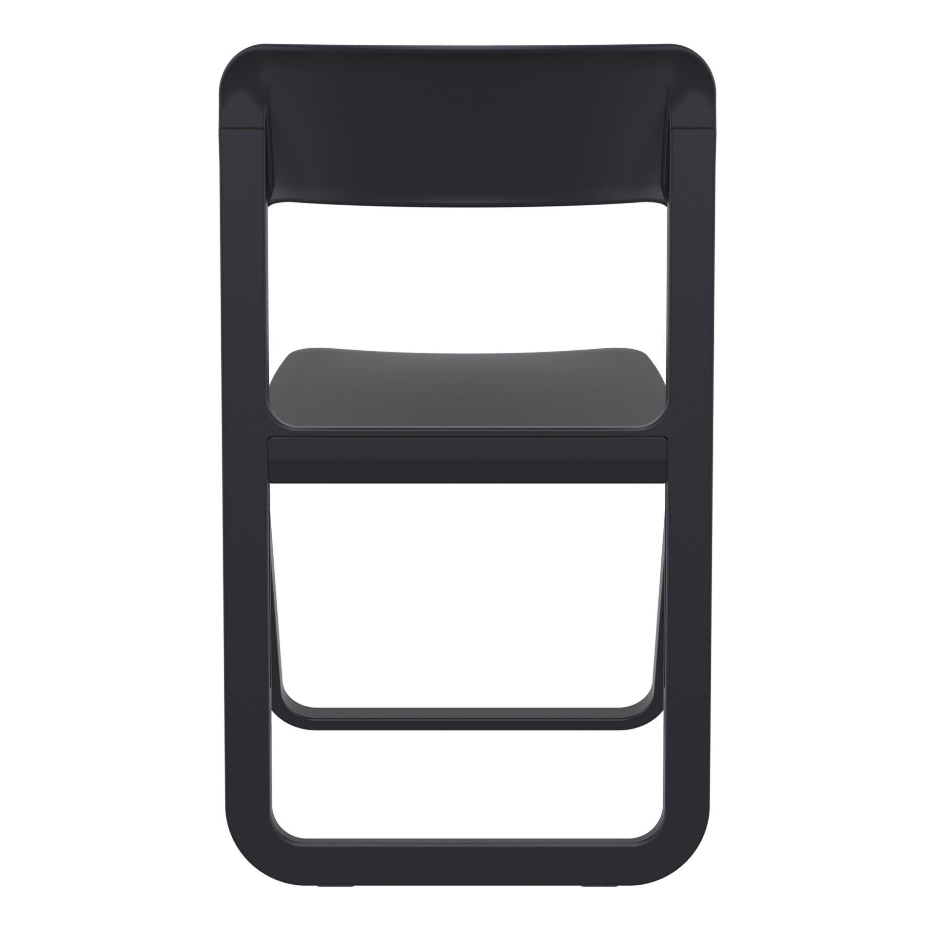 polypropylene dream folding chair black back