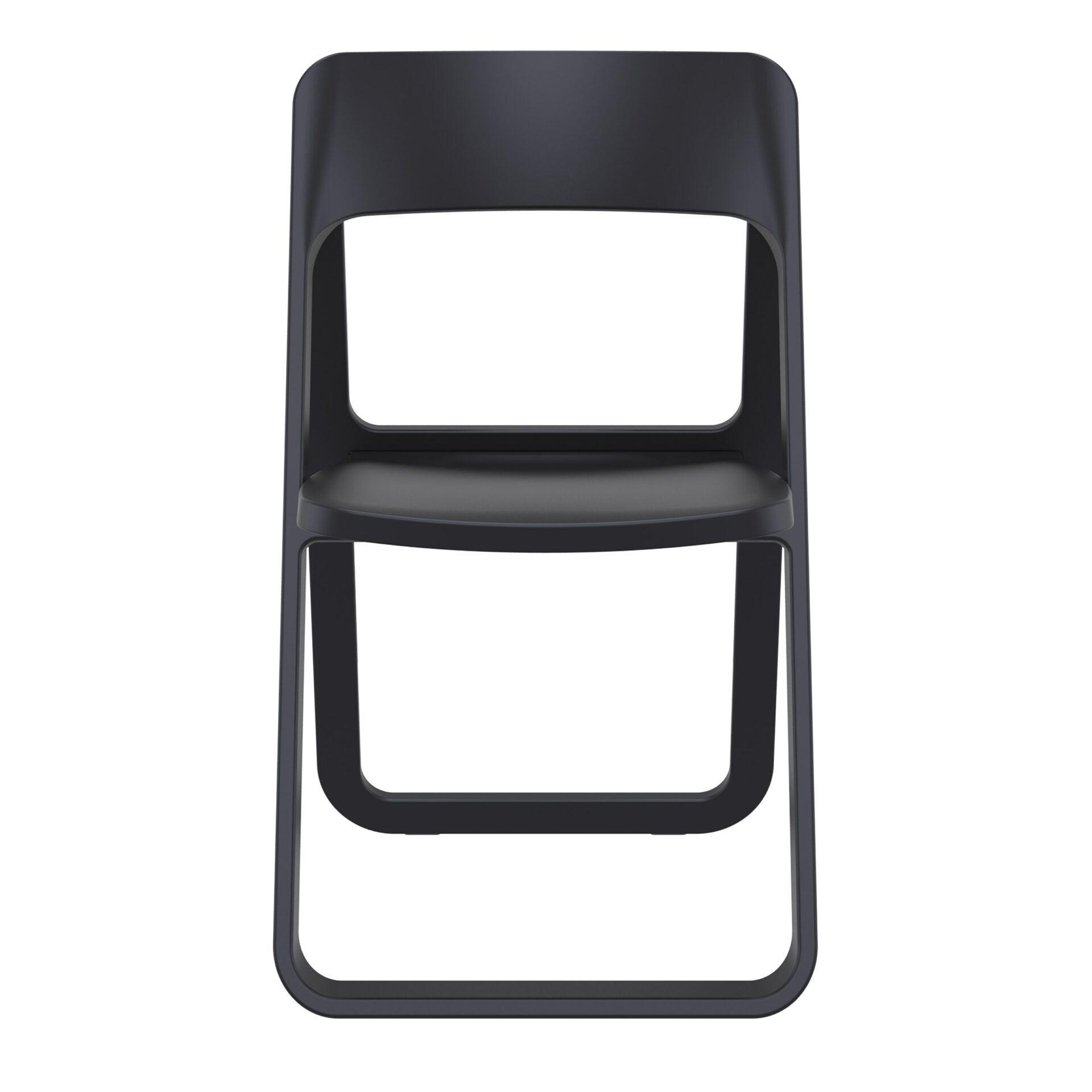 polypropylene dream folding chair black front