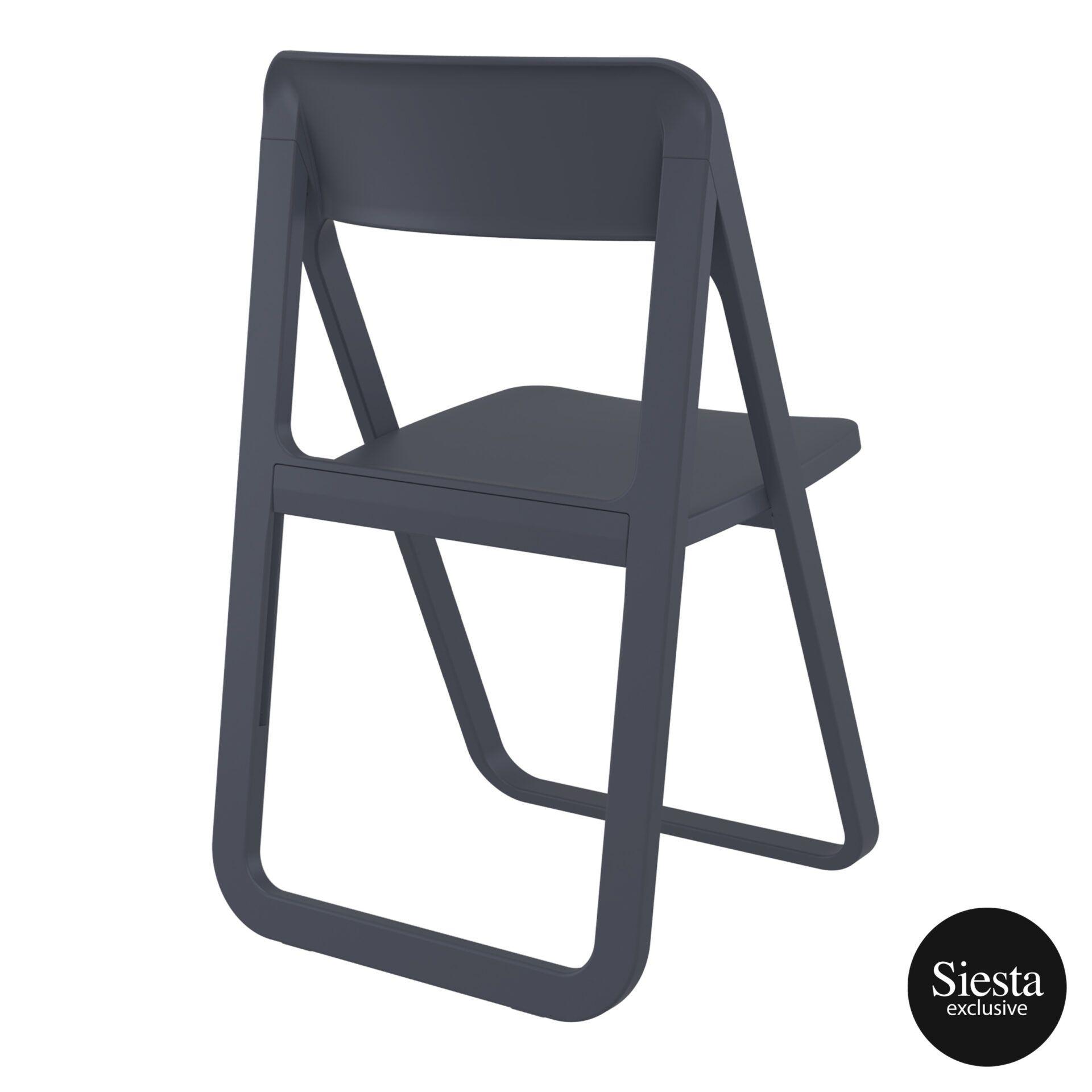 polypropylene dream folding chair darkgrey back side 2