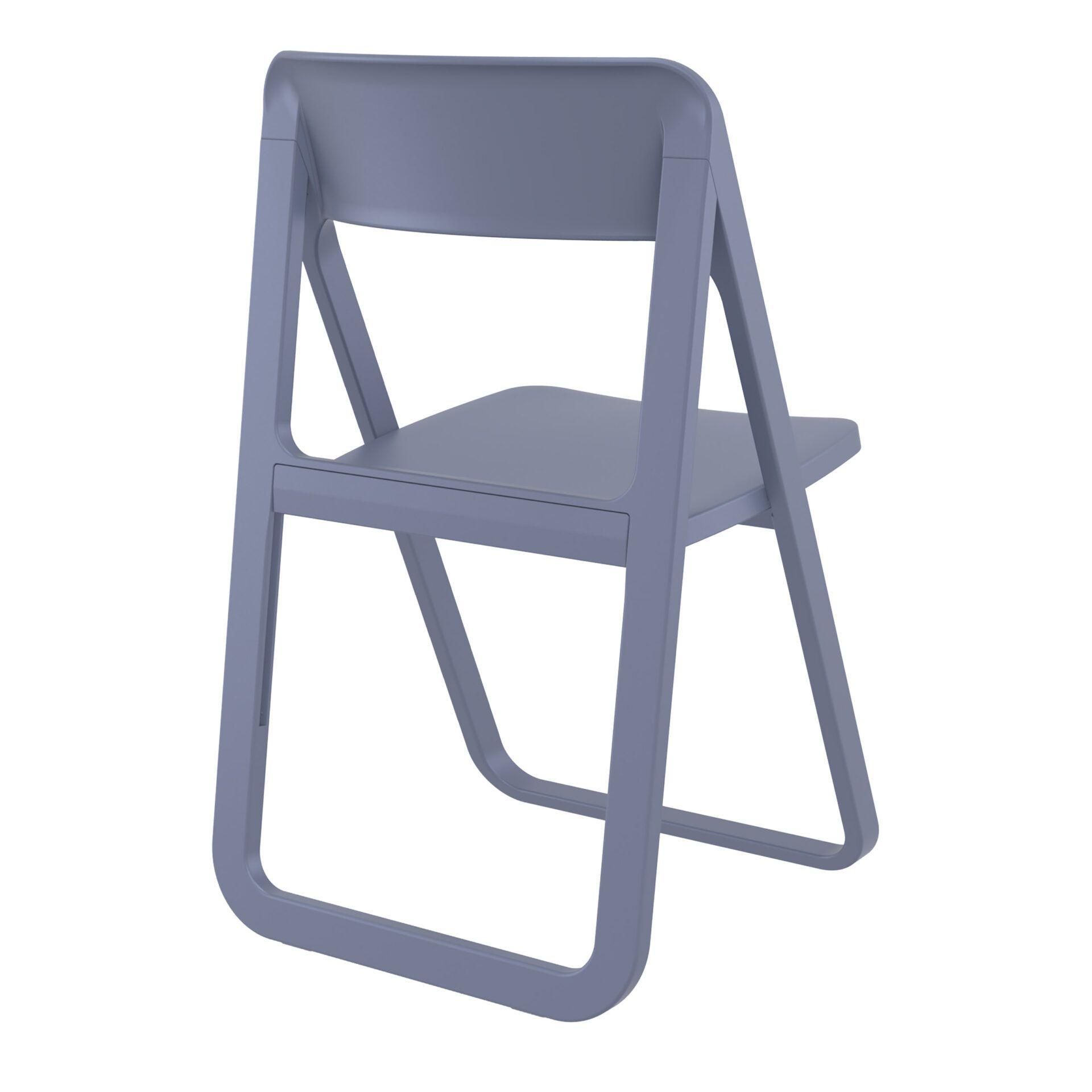 polypropylene dream folding chair darkgrey back side