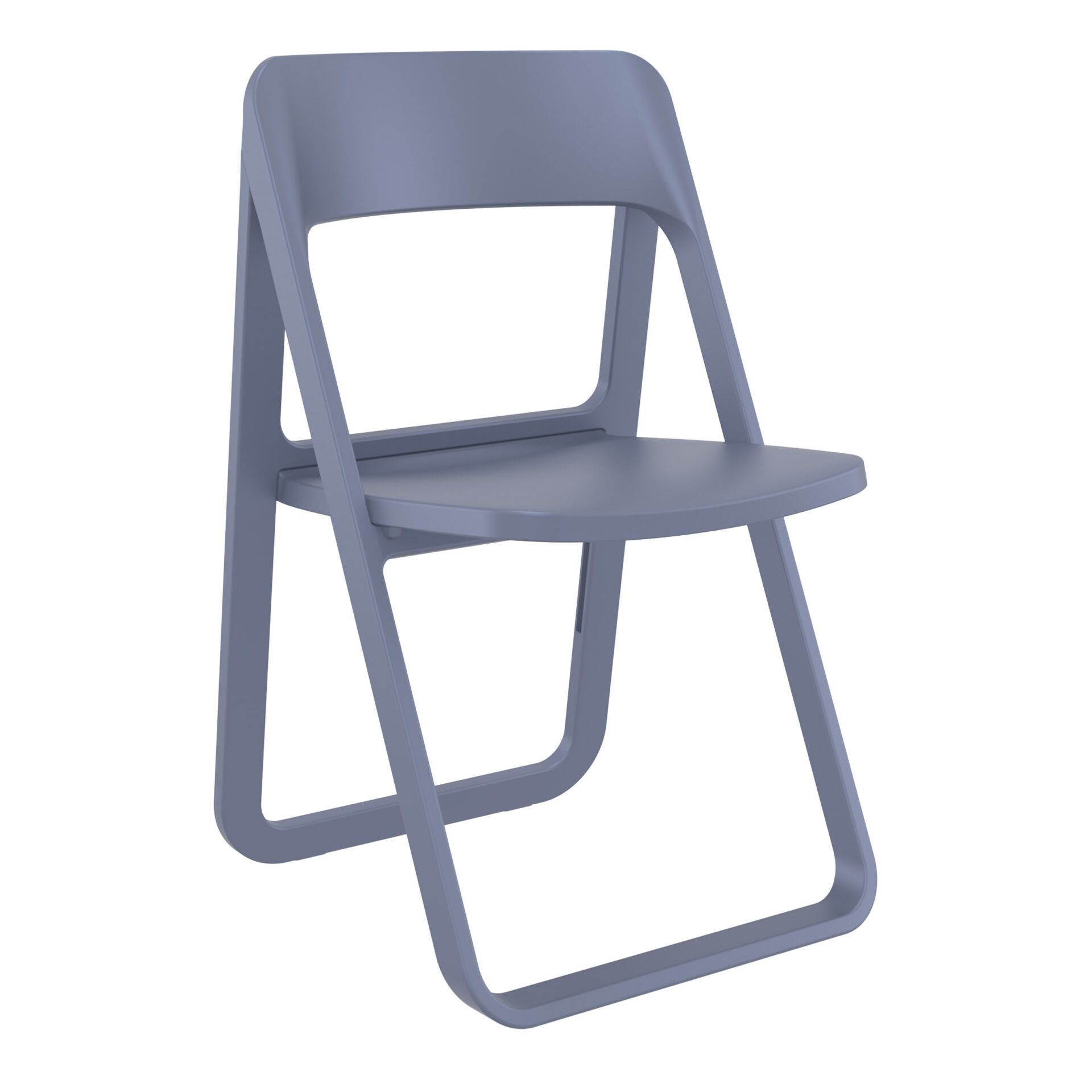 polypropylene dream folding chair darkgrey front side