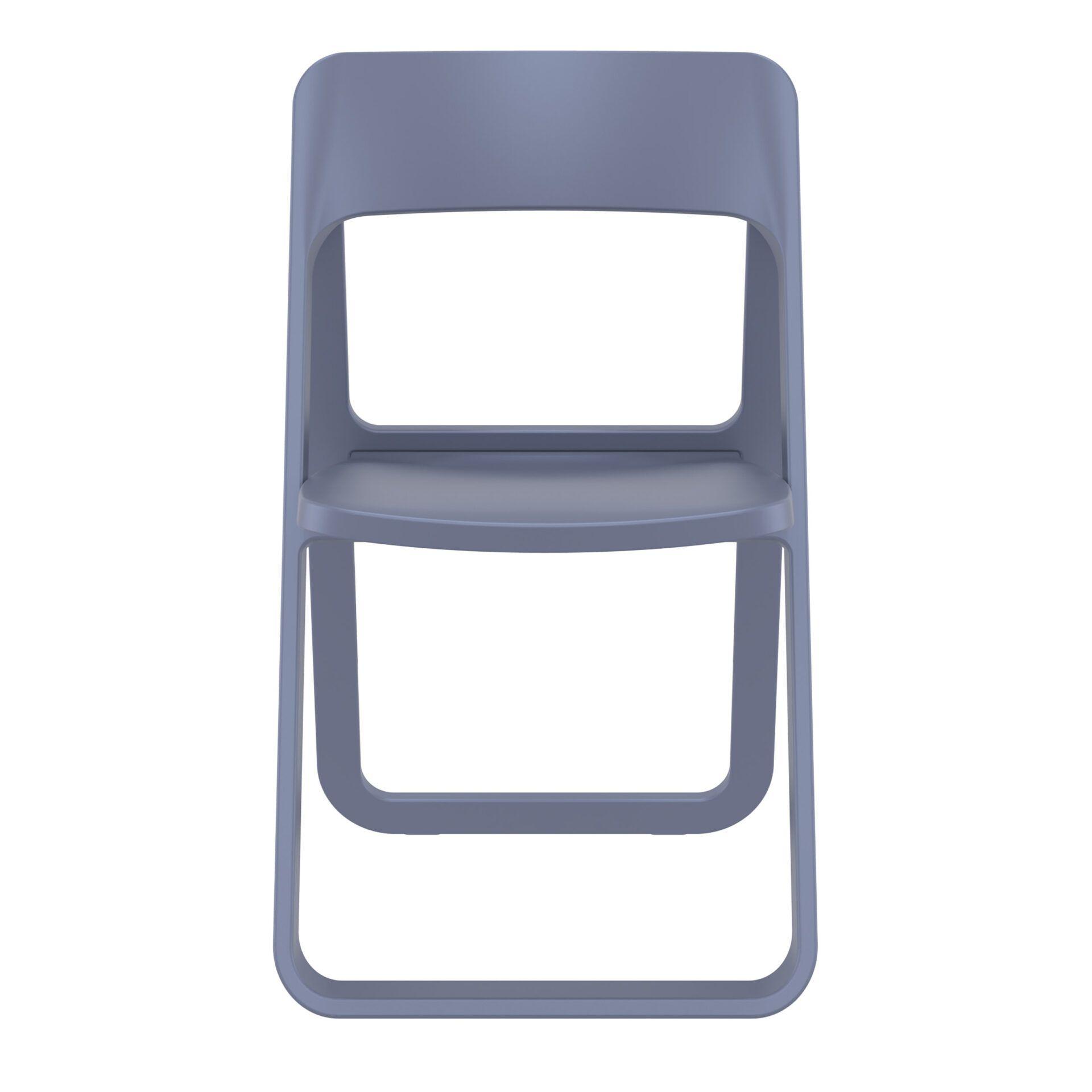 polypropylene dream folding chair darkgrey front