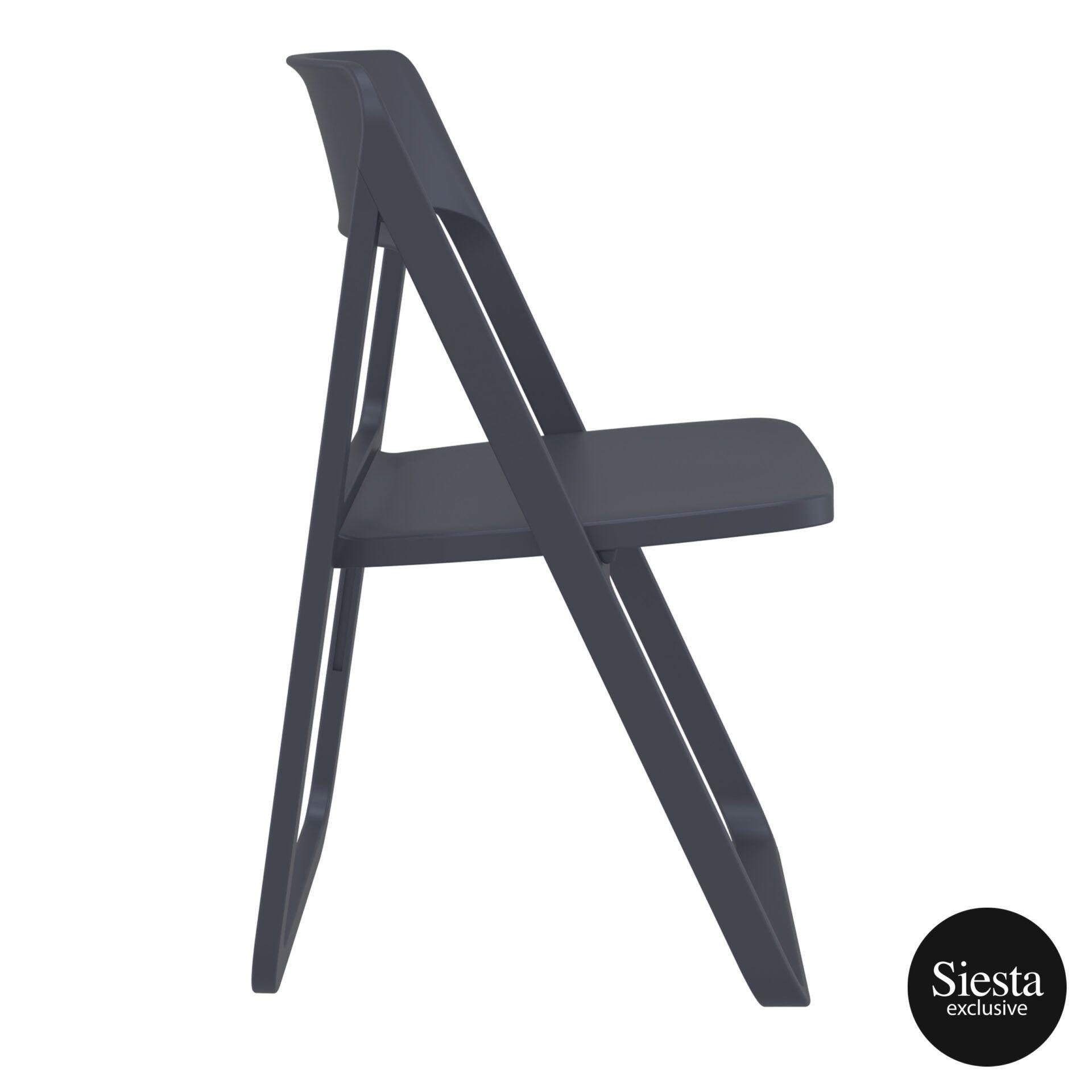 polypropylene dream folding chair darkgrey side 2