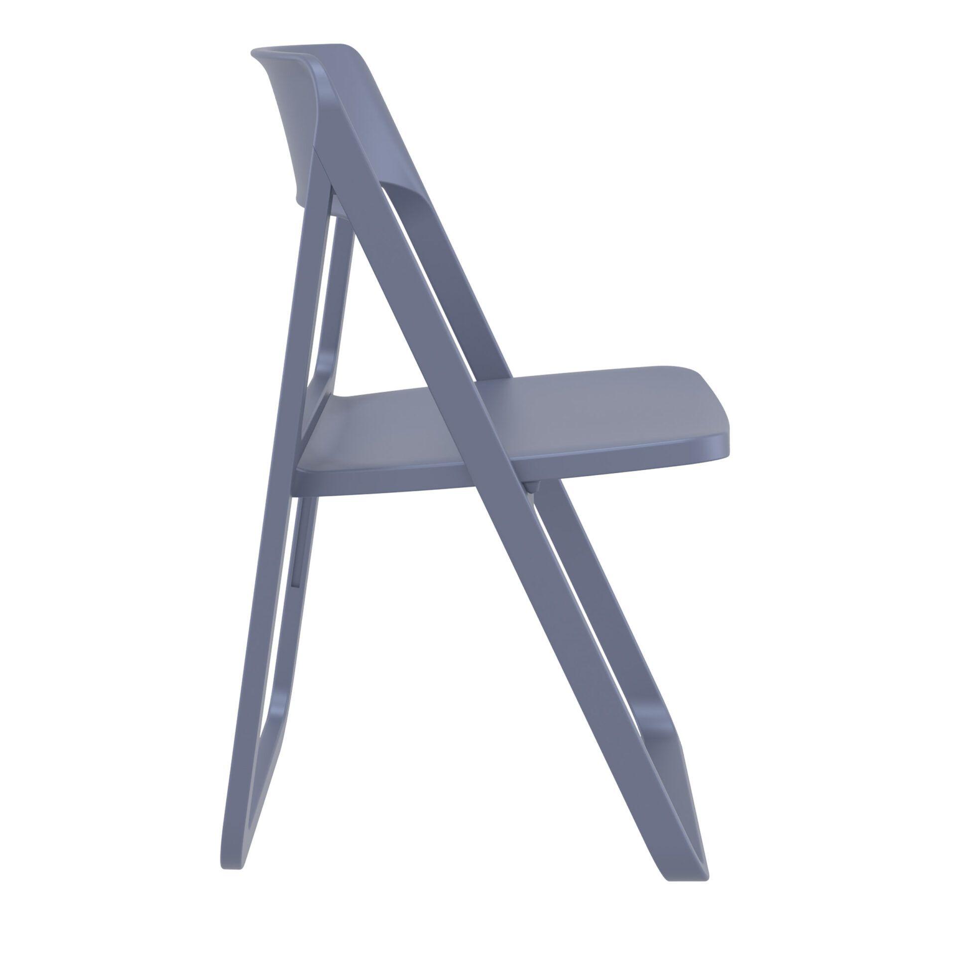 polypropylene dream folding chair darkgrey side