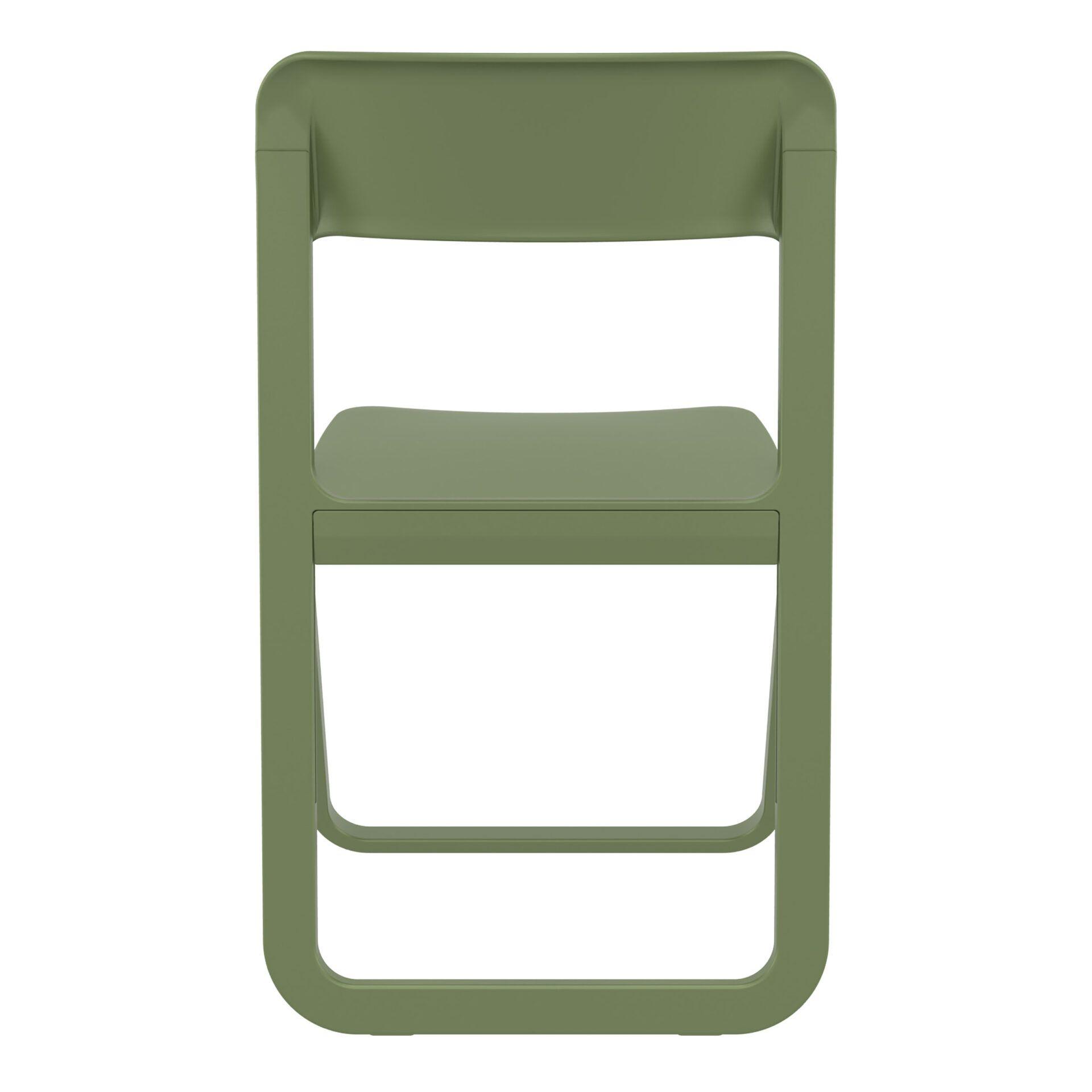 polypropylene dream folding chair olive green back