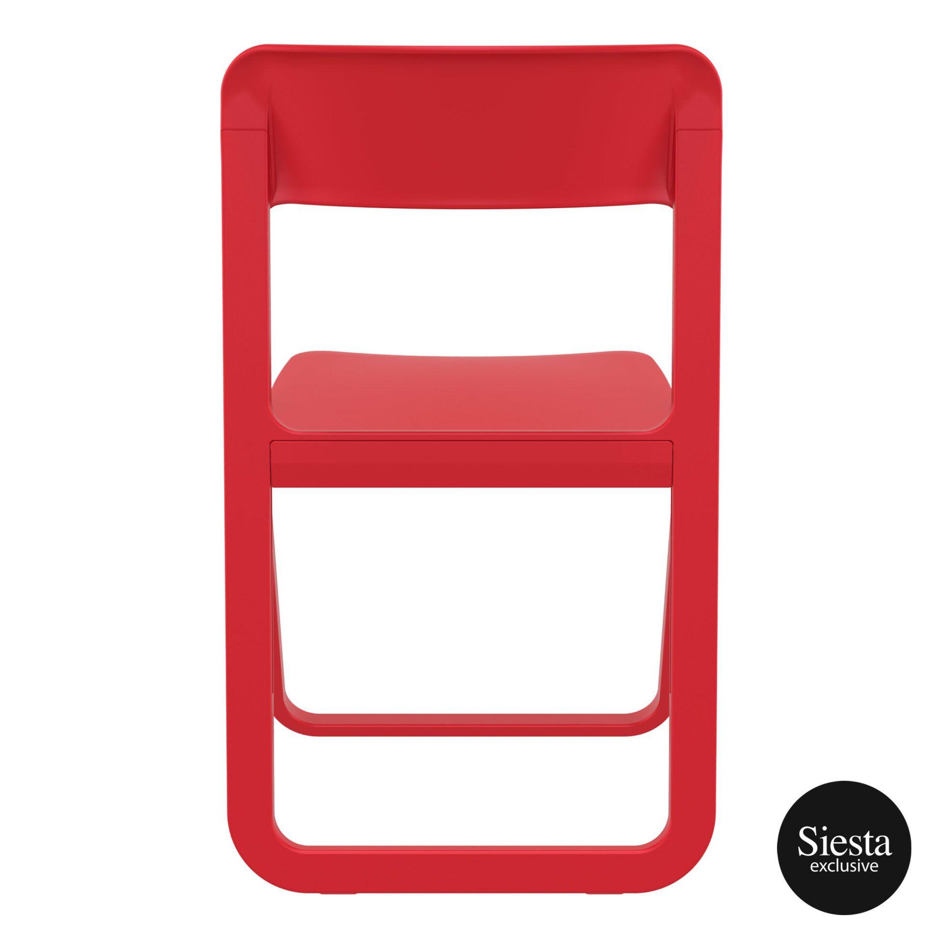 polypropylene dream folding chair red back 1