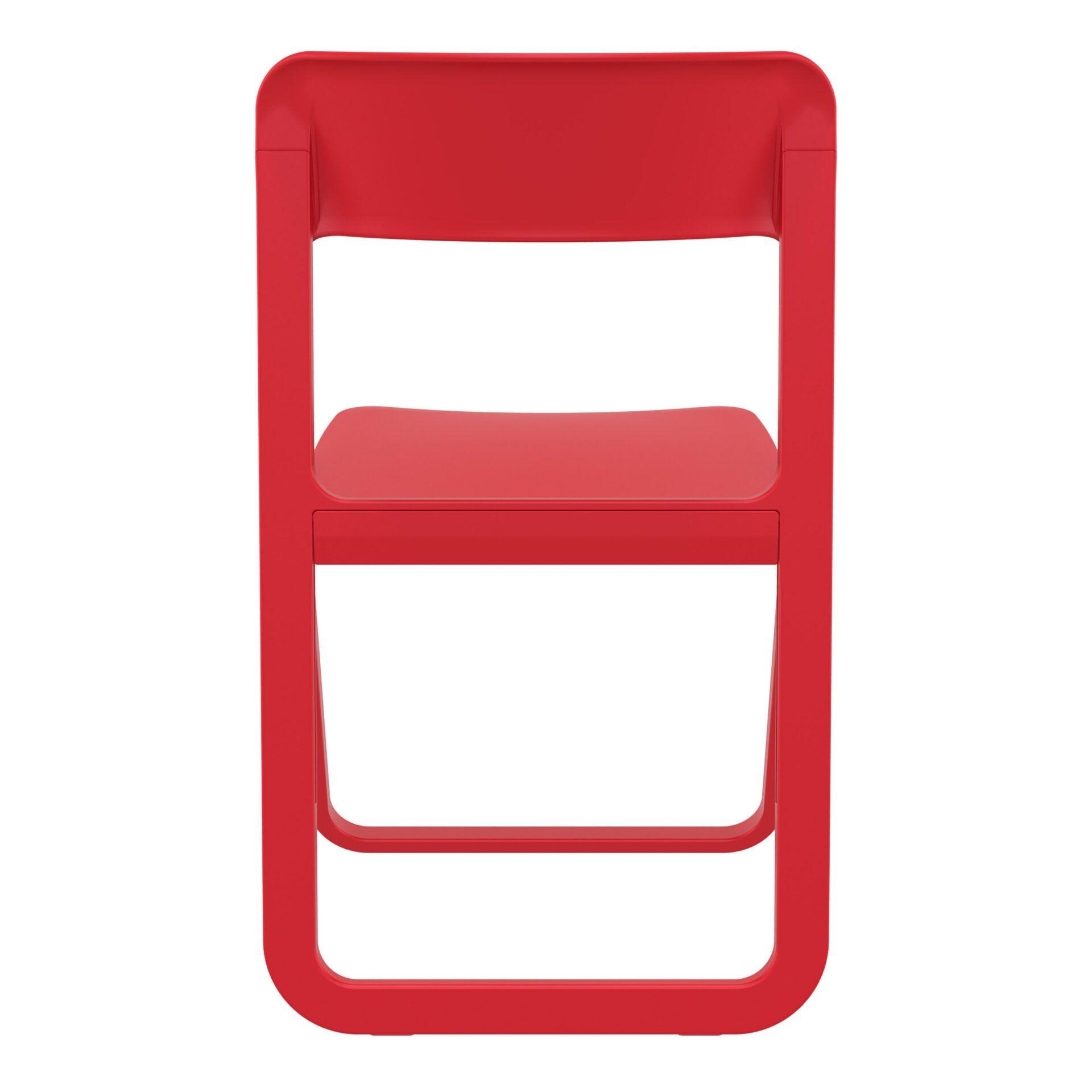 polypropylene dream folding chair red back