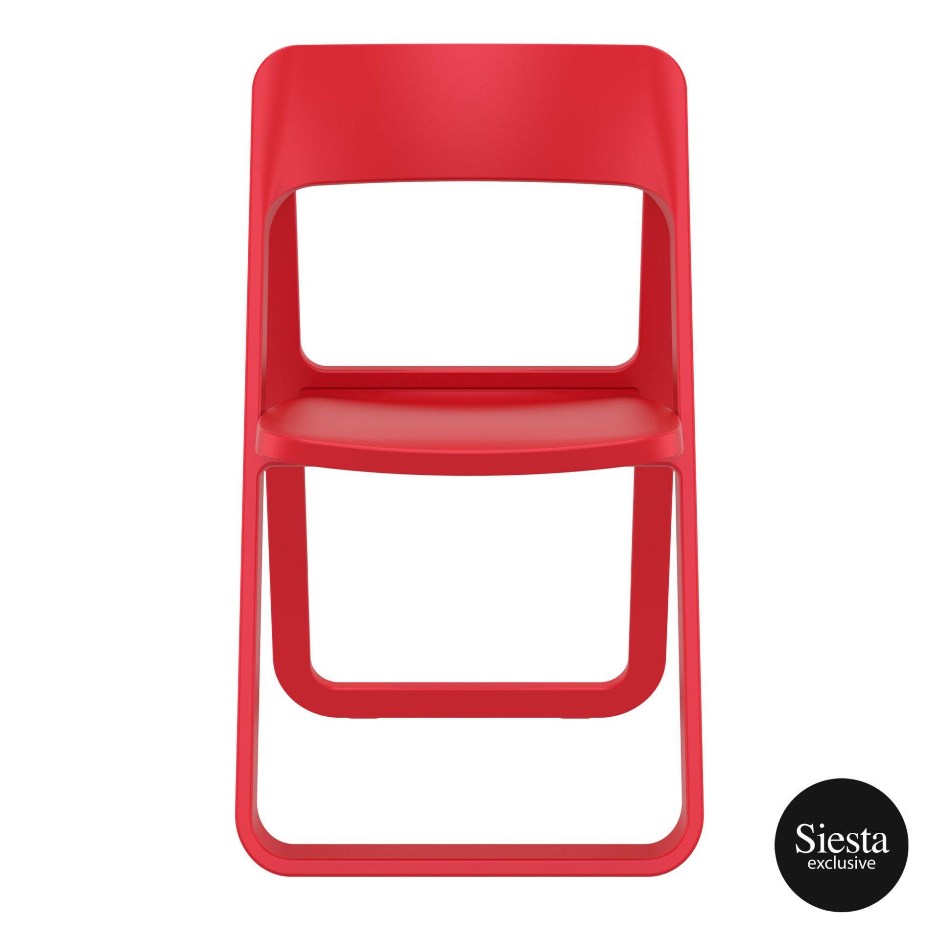 polypropylene dream folding chair red front 1