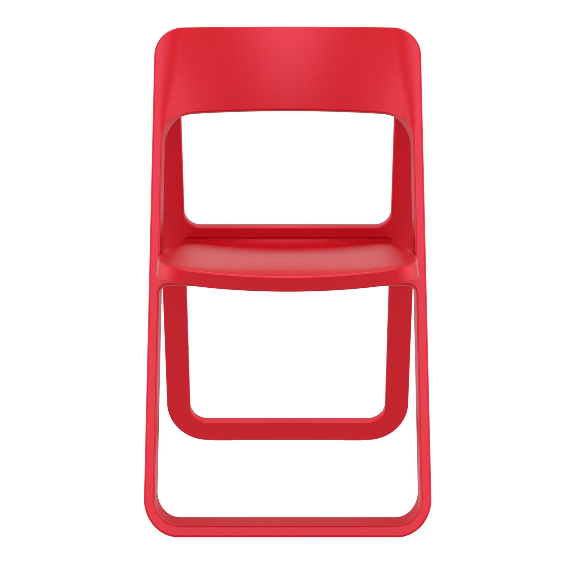 polypropylene dream folding chair red front