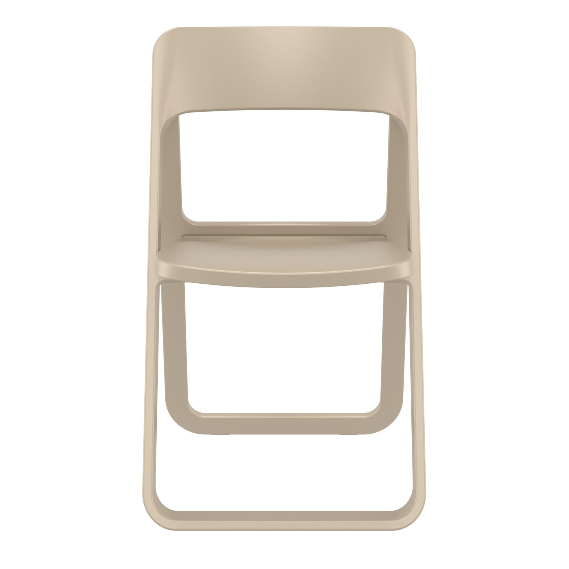 polypropylene dream folding chair taupe front