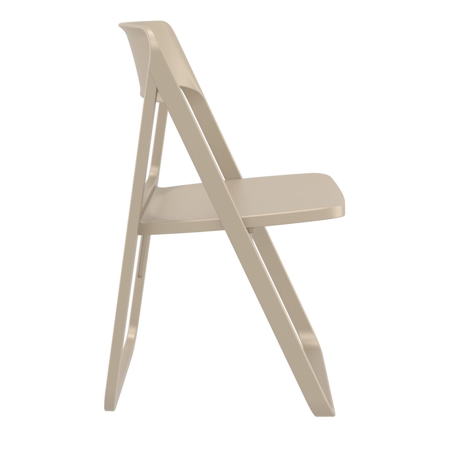 polypropylene dream folding chair taupe side