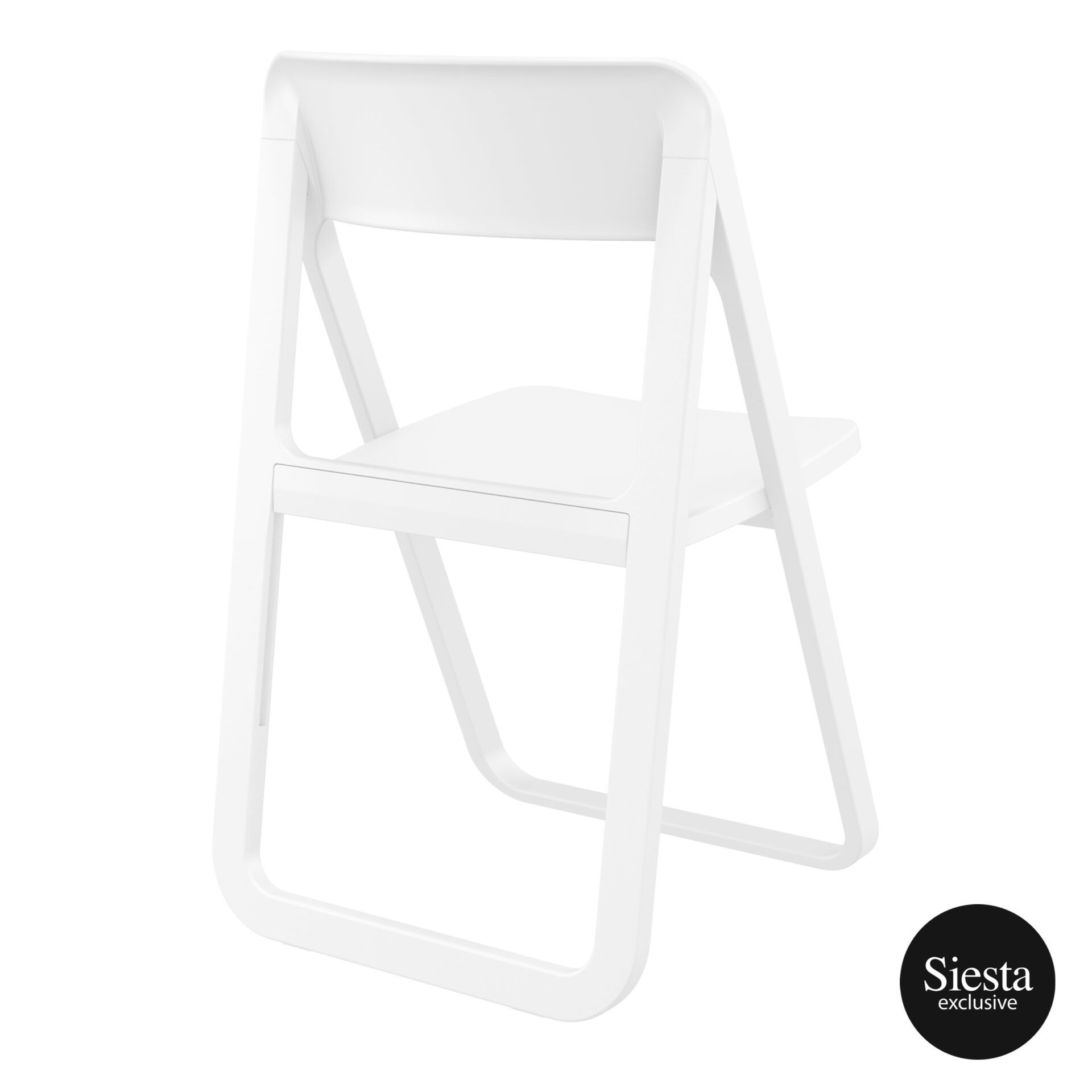 polypropylene dream folding chair white back side 1