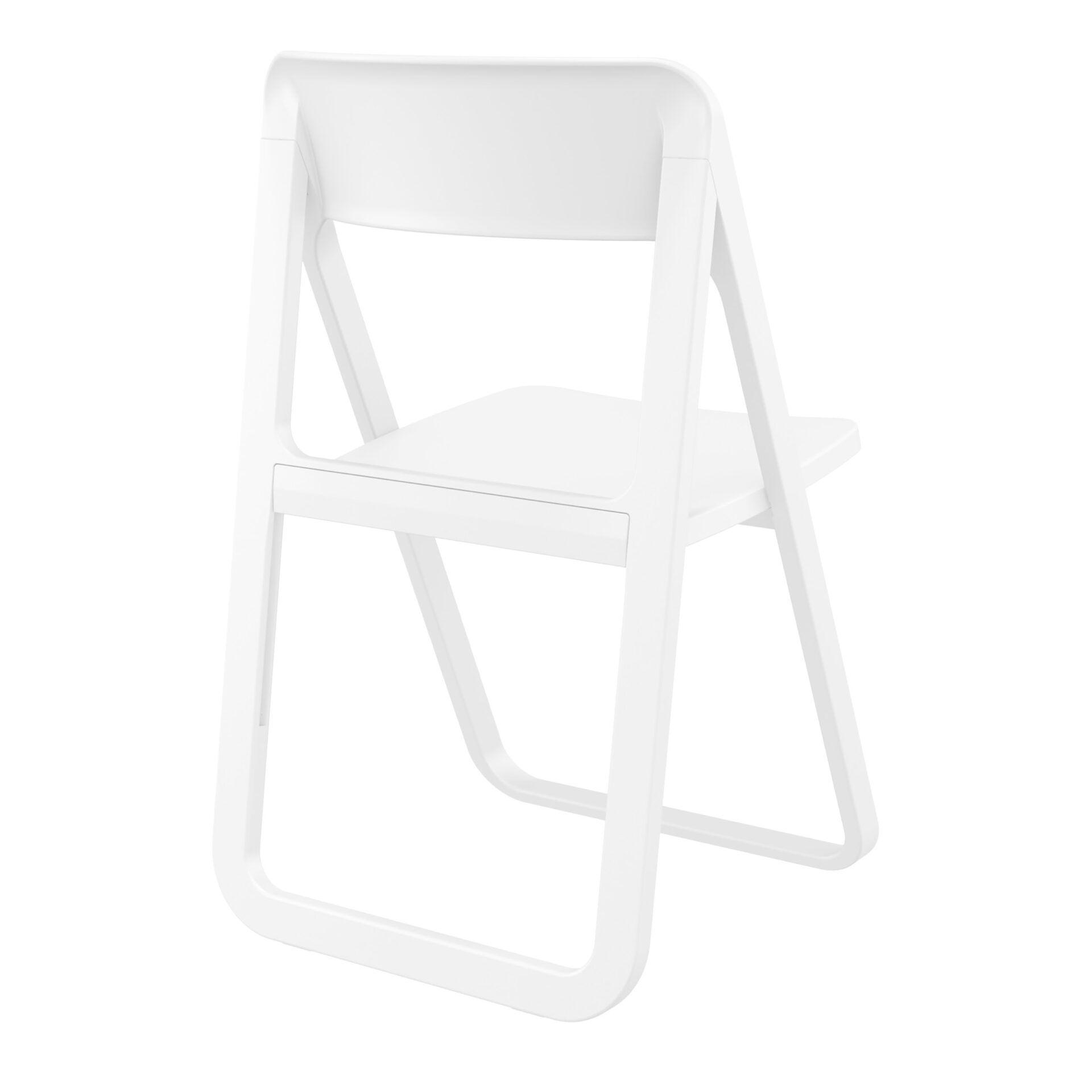 polypropylene dream folding chair white back side