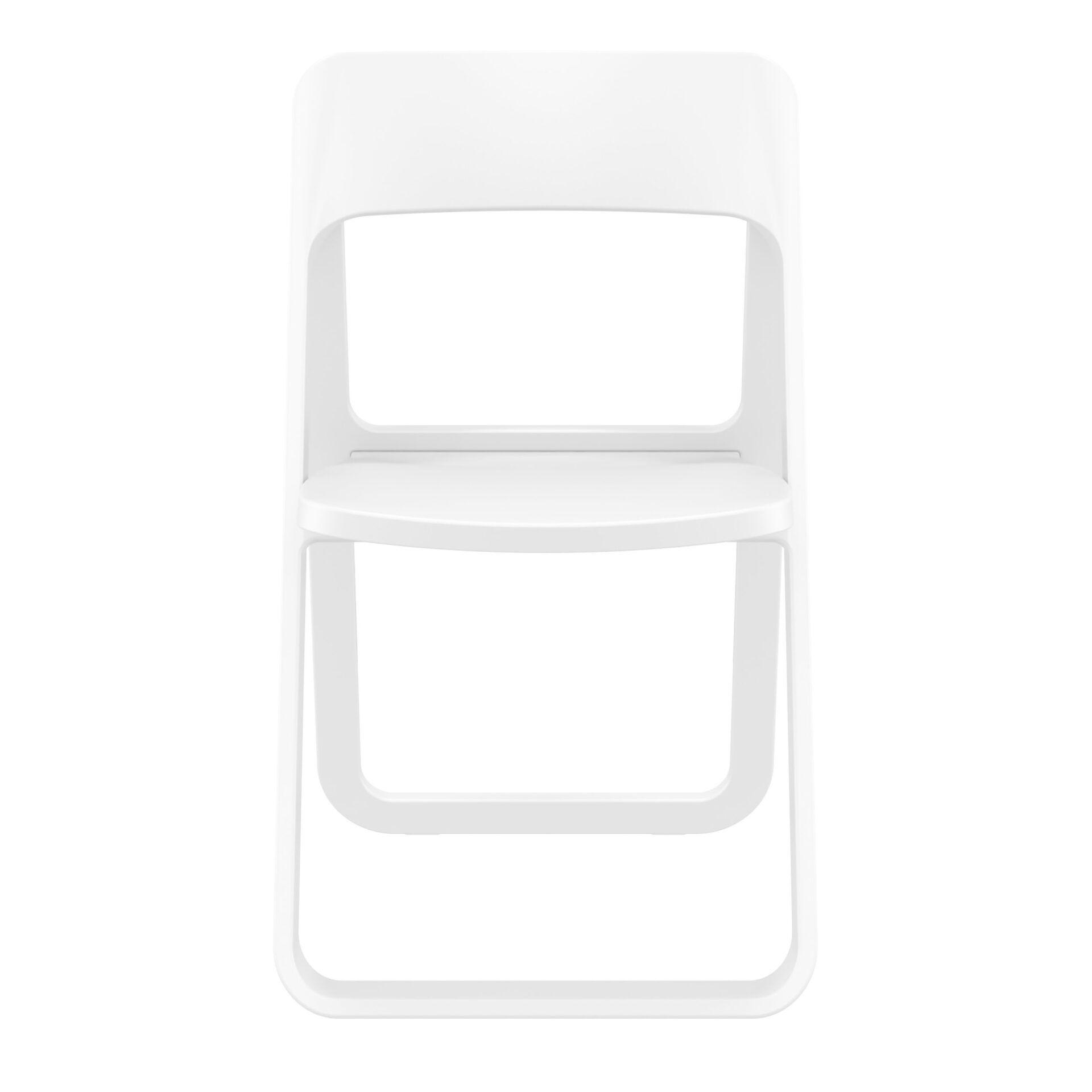 polypropylene dream folding chair white front