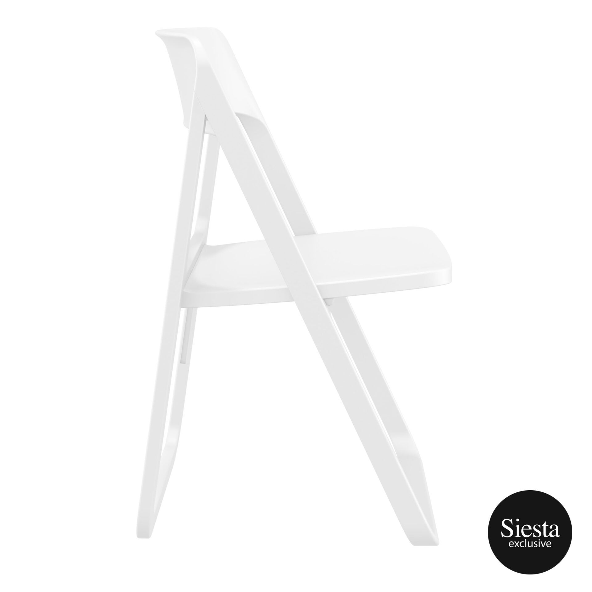 polypropylene dream folding chair white side 1