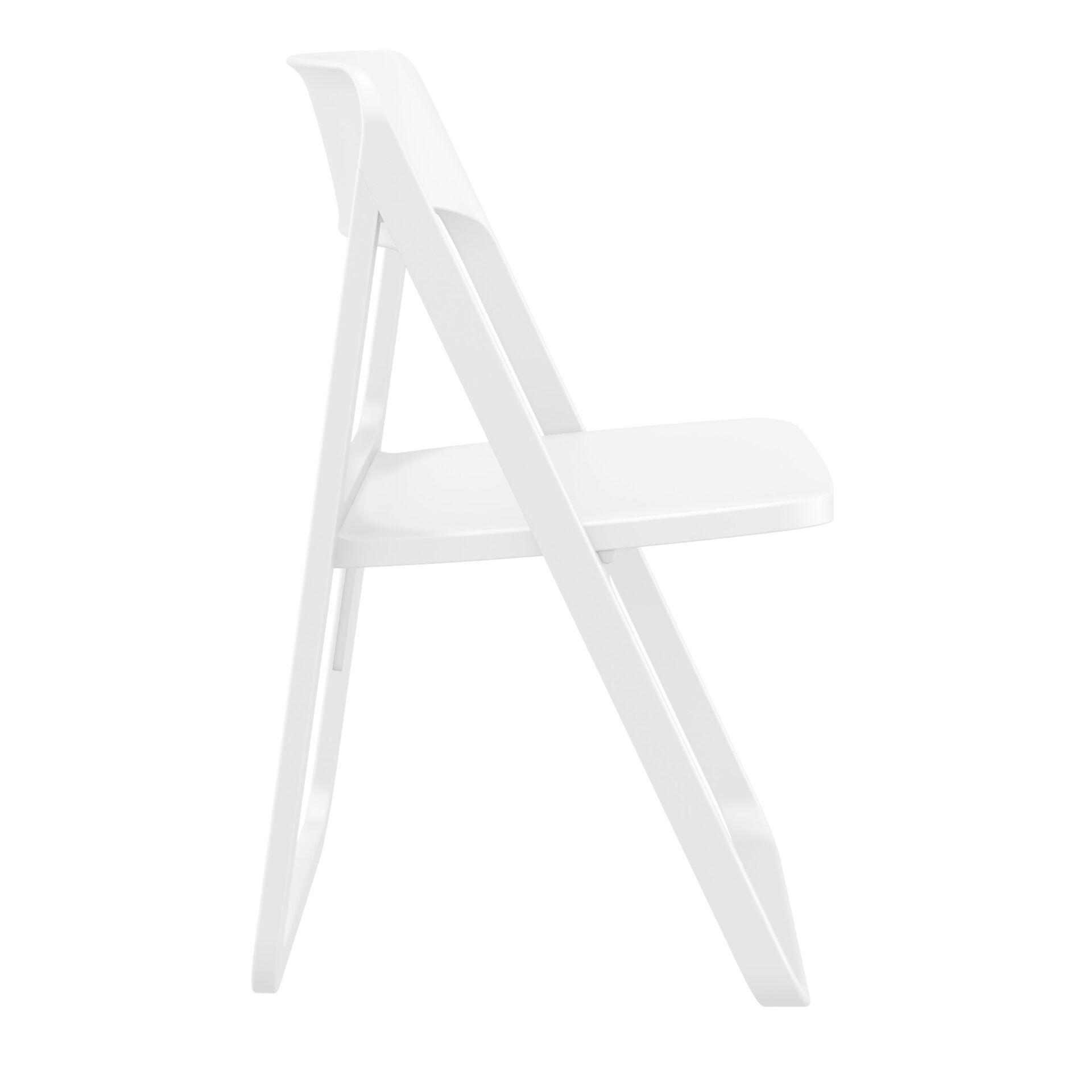 polypropylene dream folding chair white side