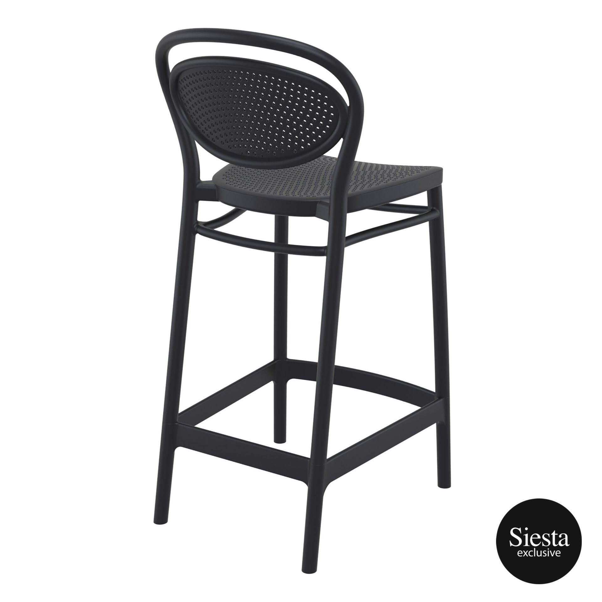 restaurant plastic bar marcel barstool 65 black back side 1