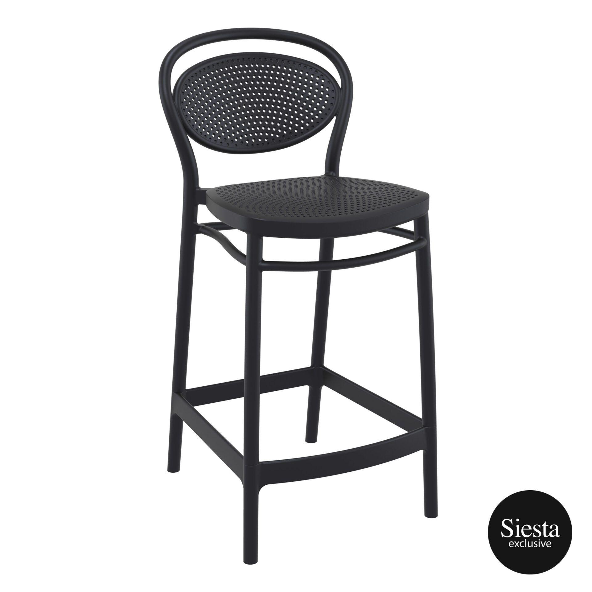 restaurant plastic bar marcel barstool 65 black front side 1