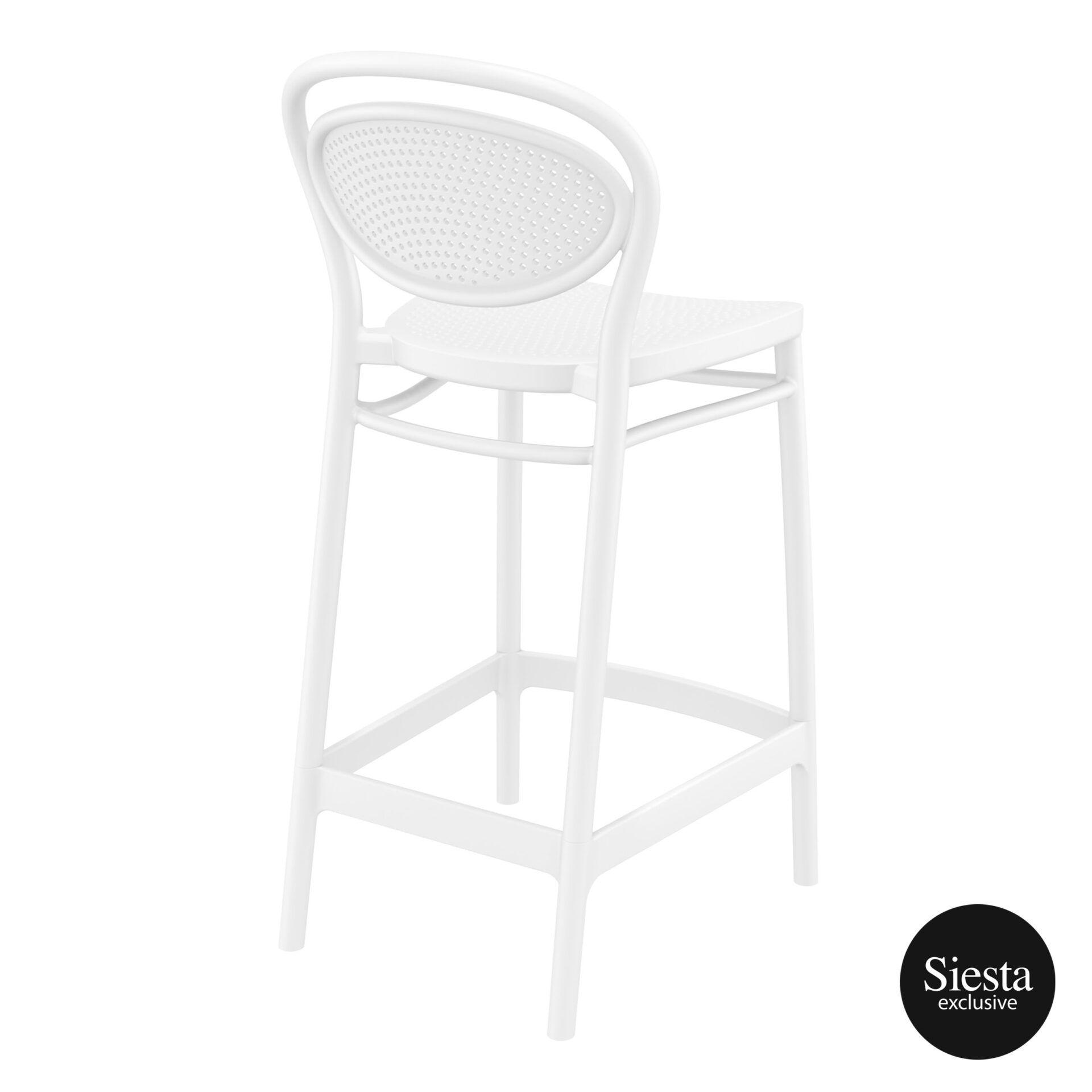 restaurant plastic bar marcel barstool 65 white back side 1