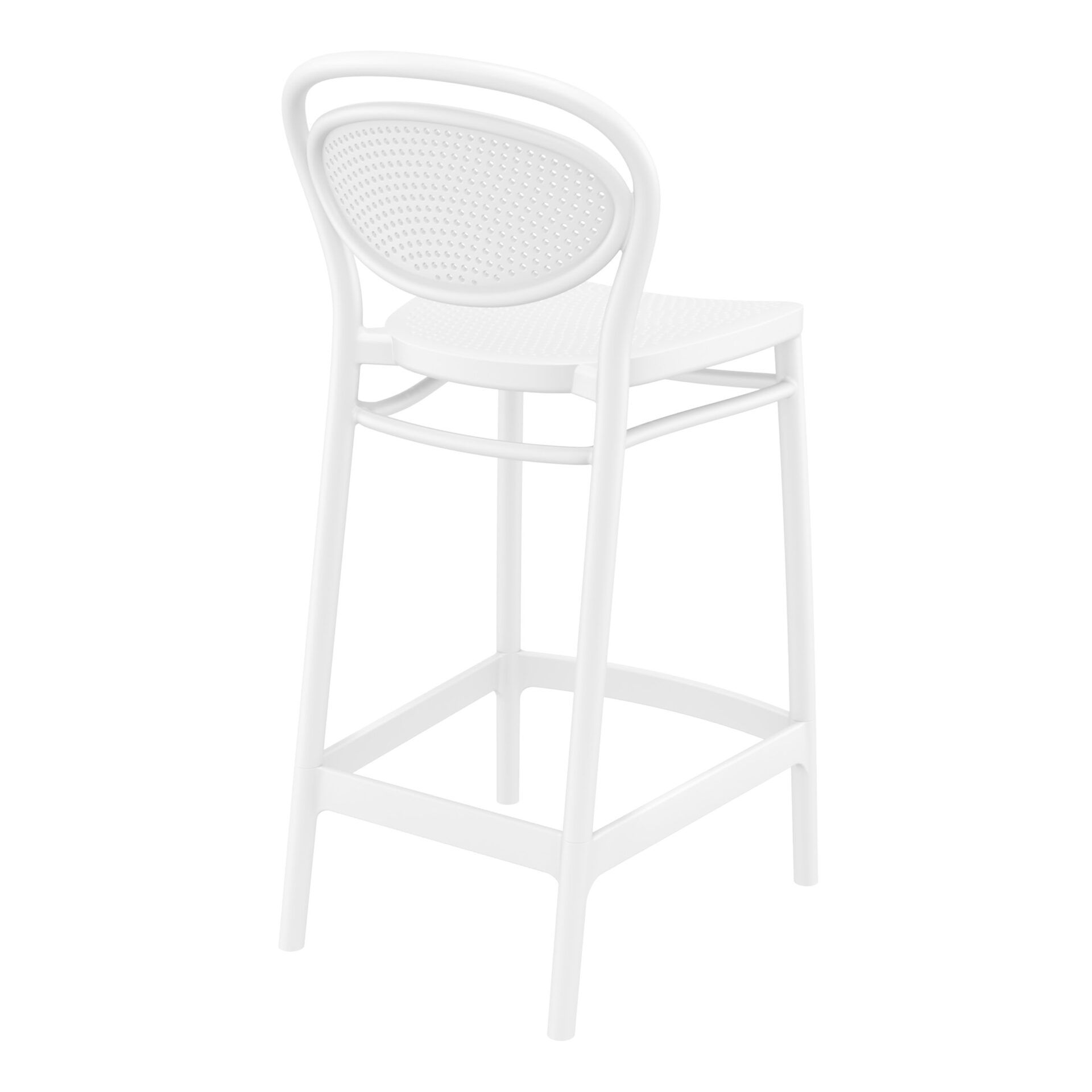 restaurant plastic bar marcel barstool 65 white back side