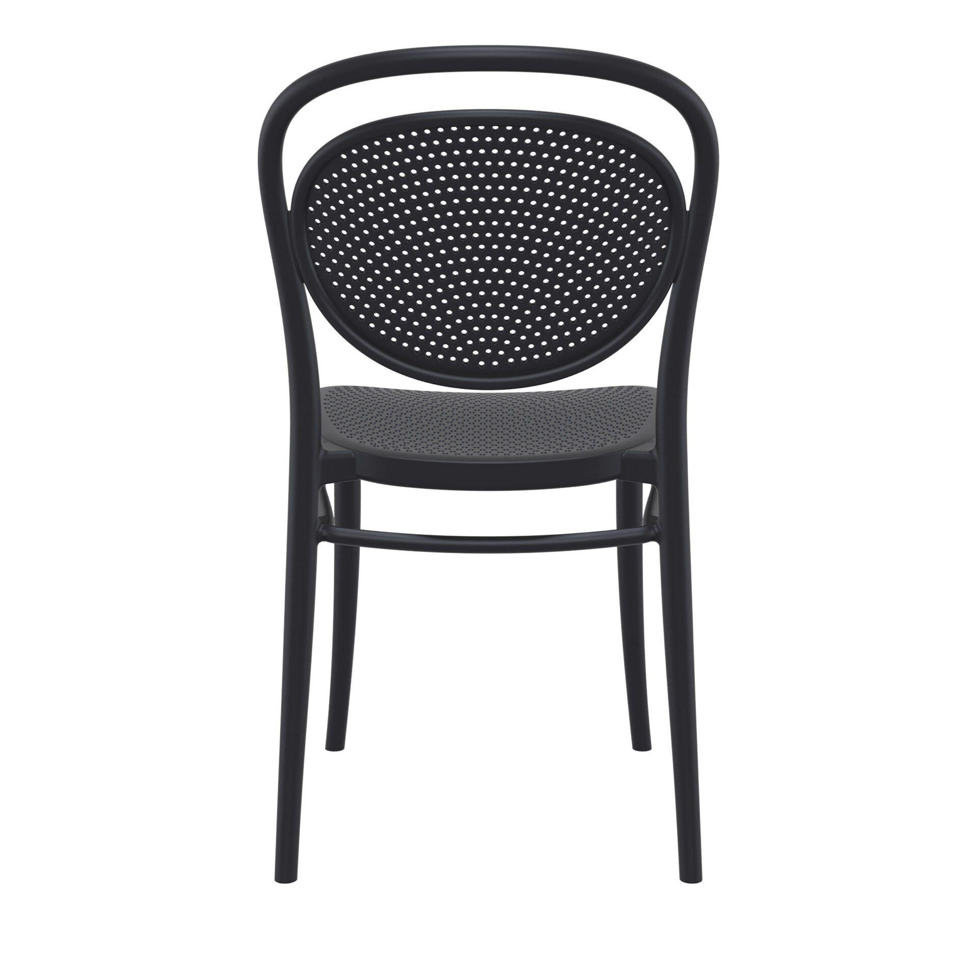 restaurant plastic dining marcel chair black back