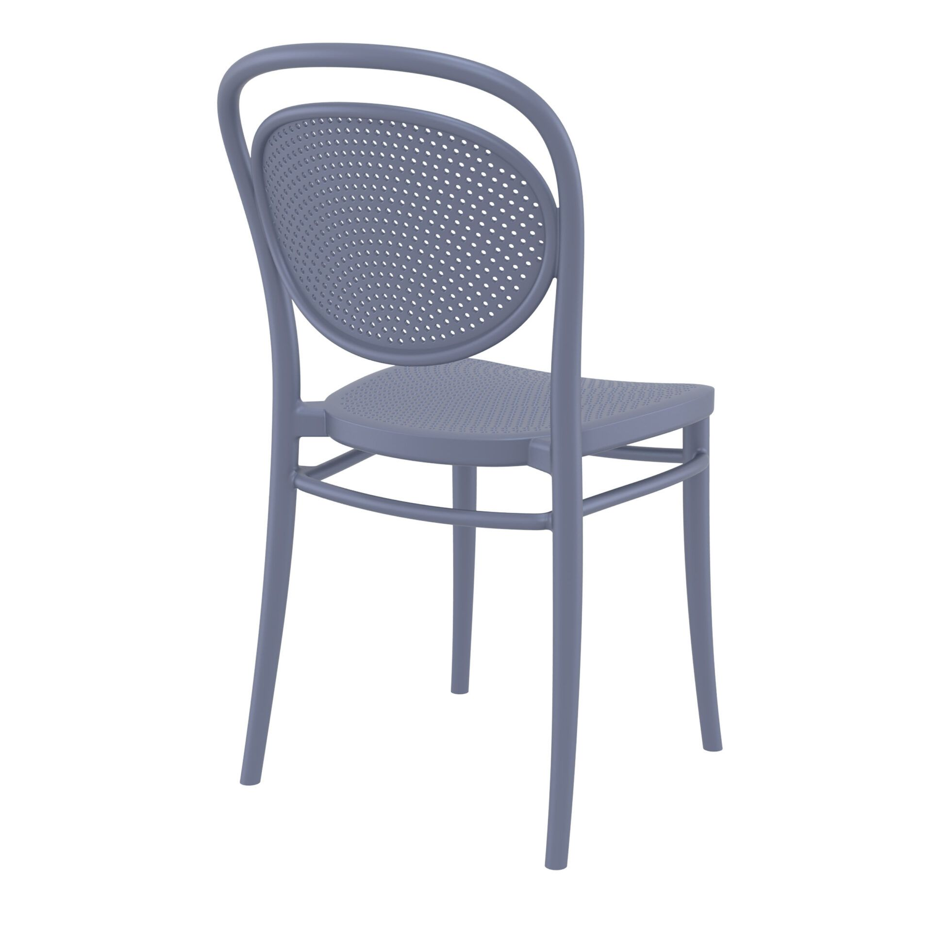 restaurant plastic dining marcel chair darkgrey back side