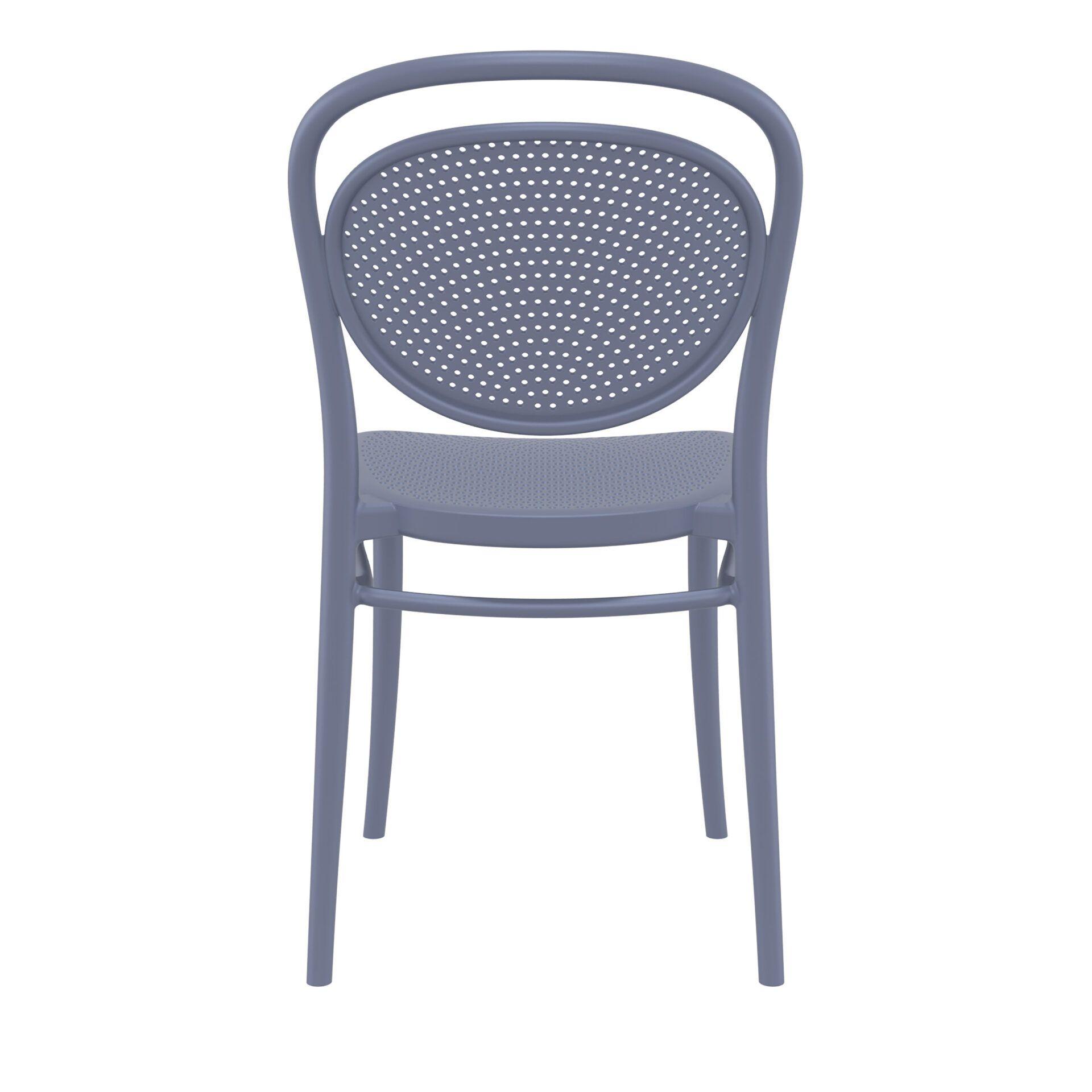 restaurant plastic dining marcel chair darkgrey back