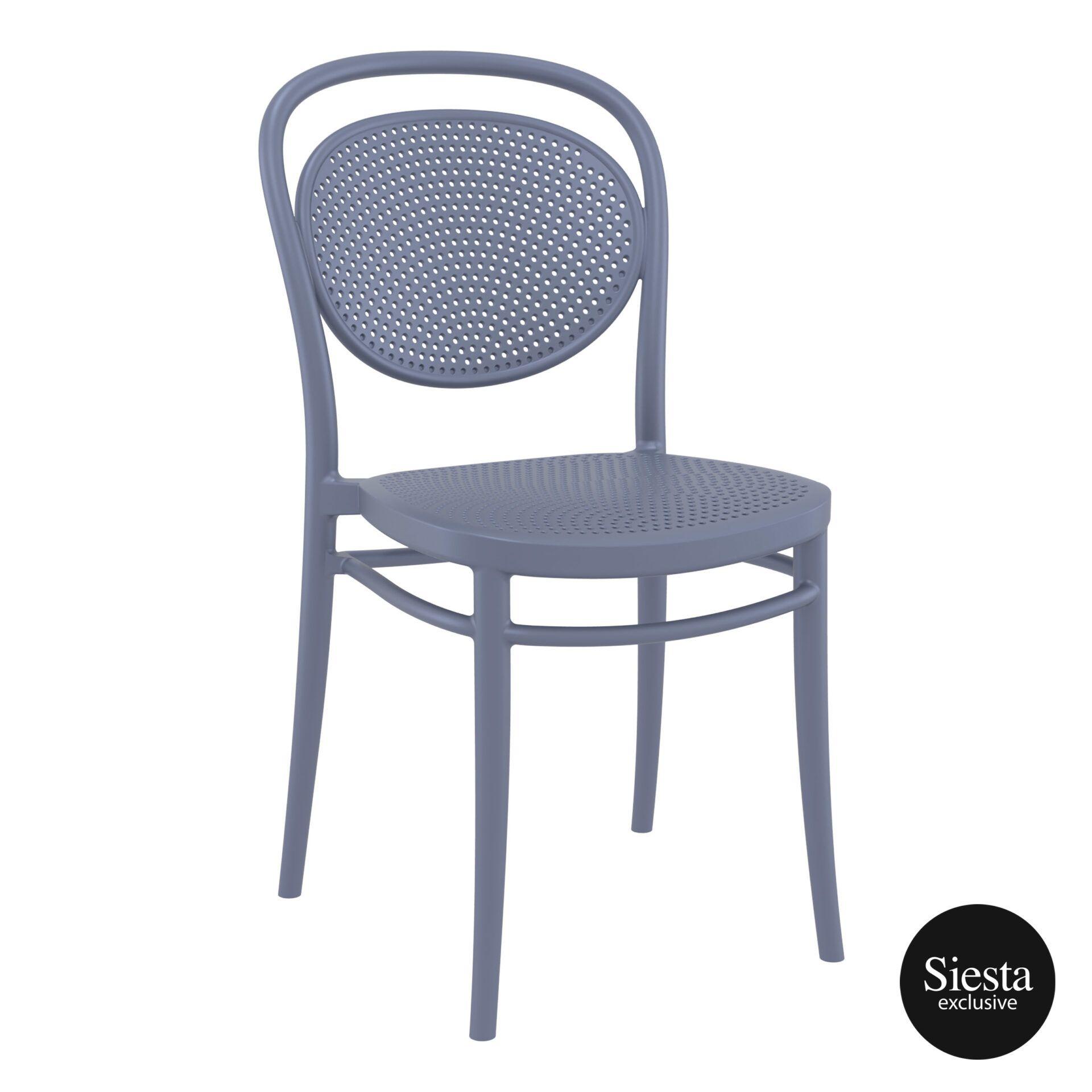 restaurant plastic dining marcel chair darkgrey front side 1