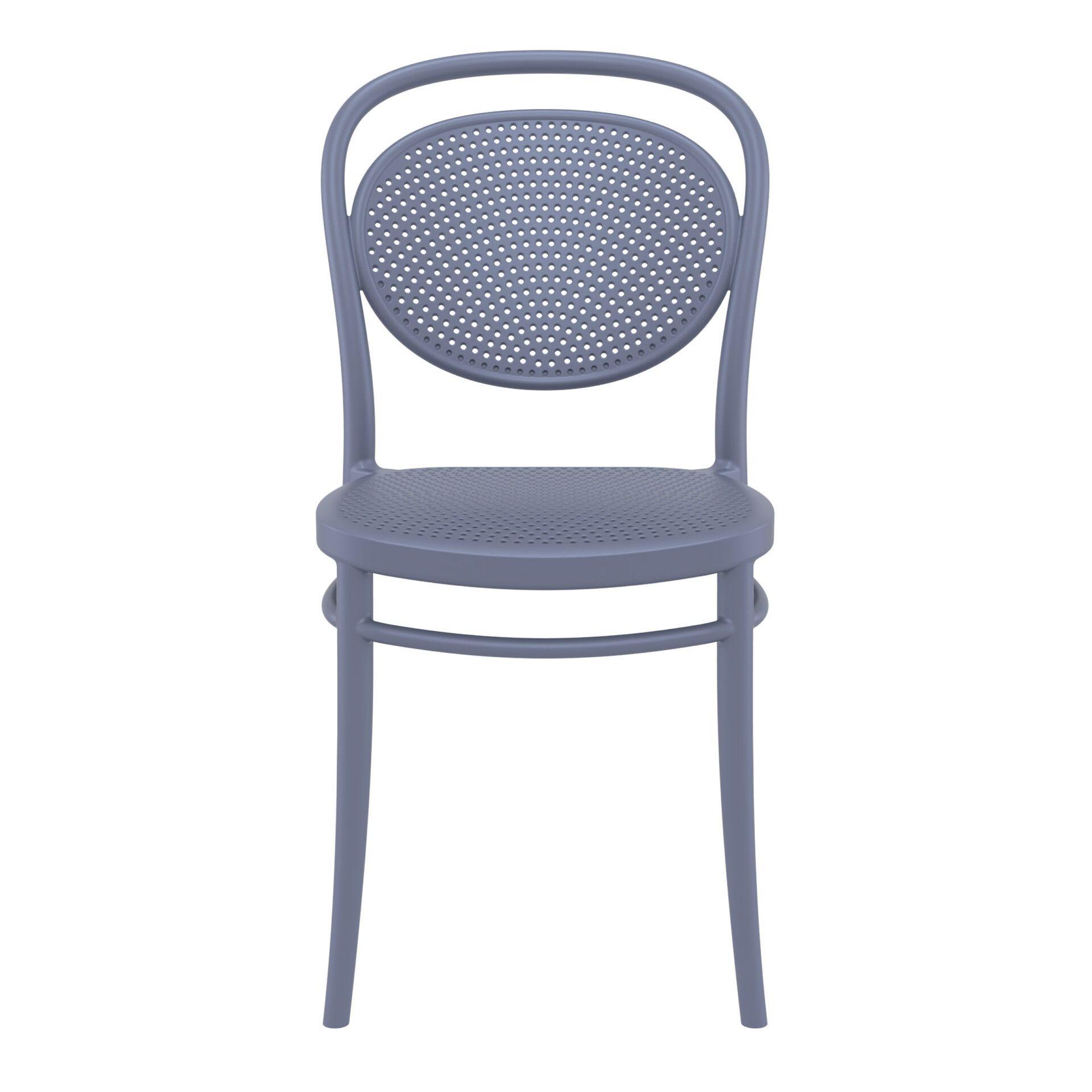 restaurant plastic dining marcel chair darkgrey front