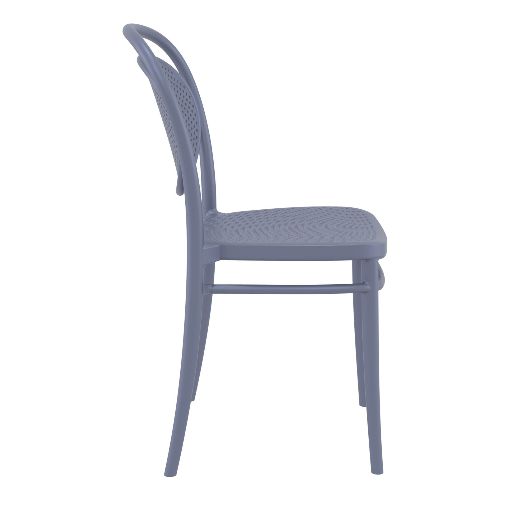 restaurant plastic dining marcel chair darkgrey side