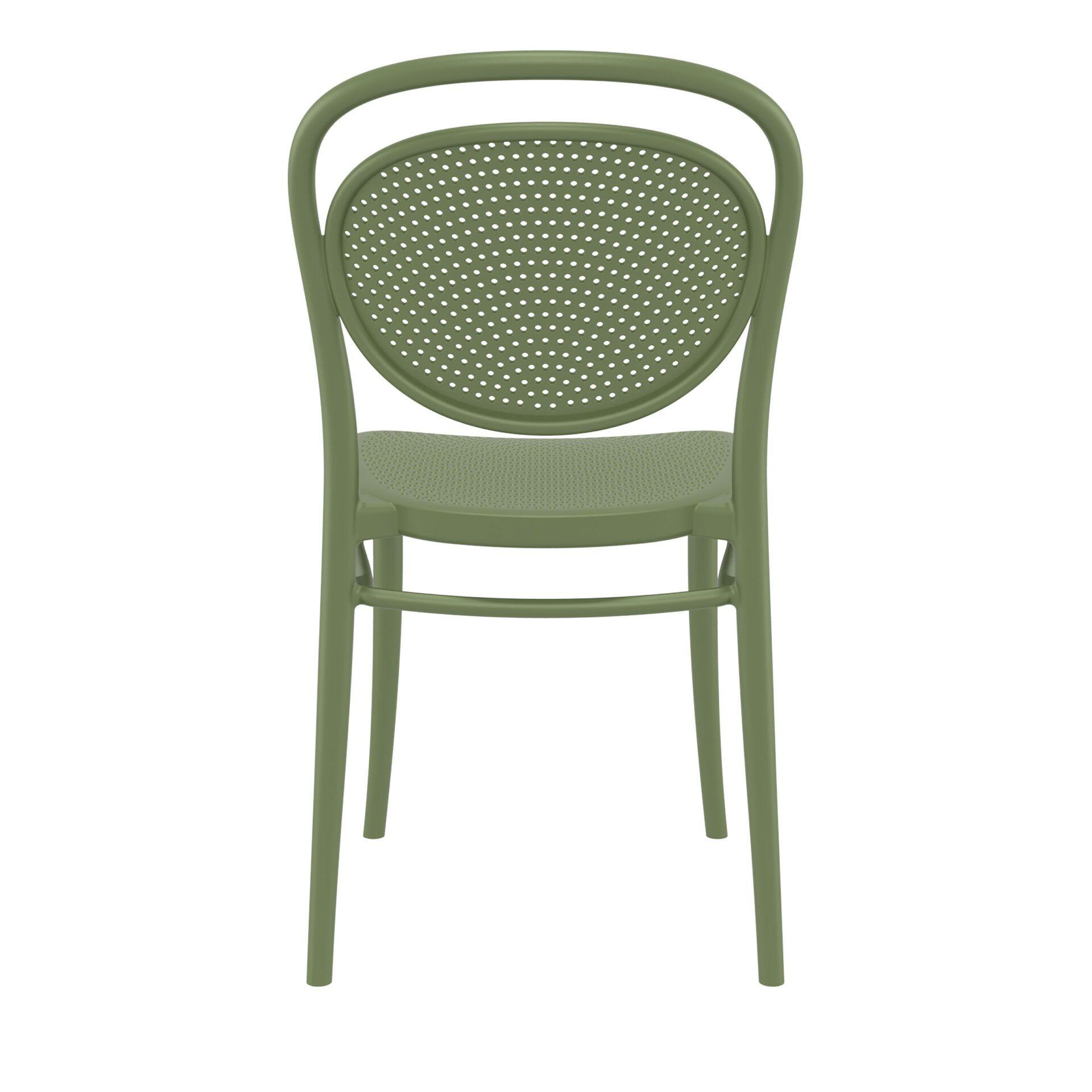 restaurant plastic dining marcel chair olive green back