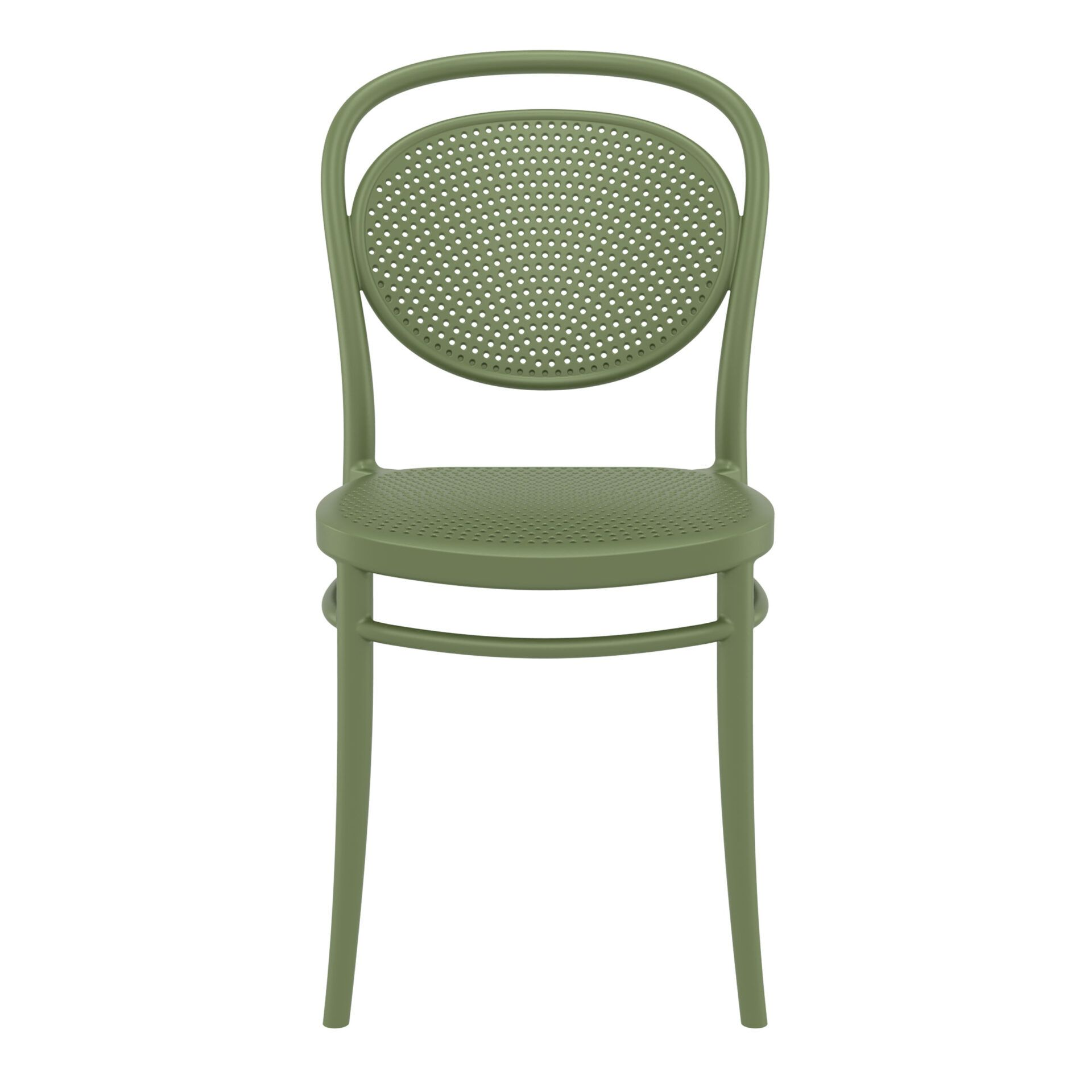 restaurant plastic dining marcel chair olive green front