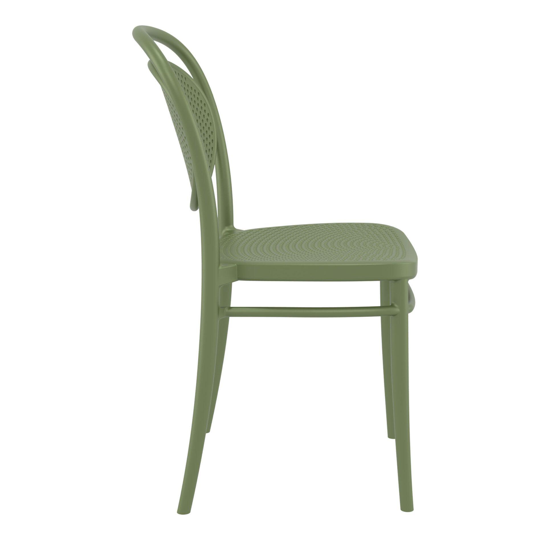 restaurant plastic dining marcel chair olive green side