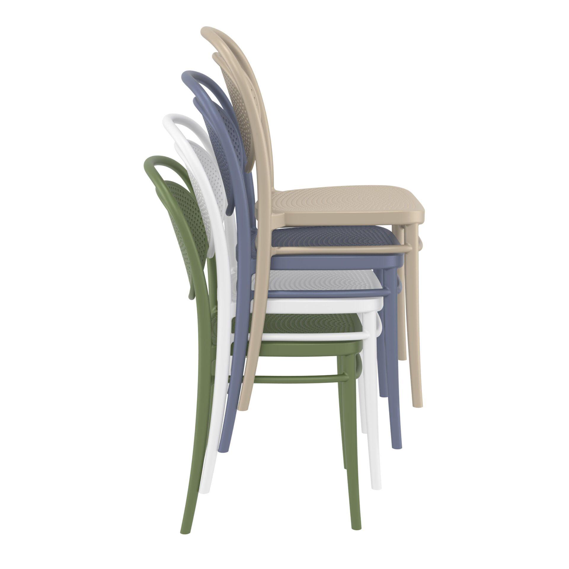 restaurant plastic dining marcel chair stack