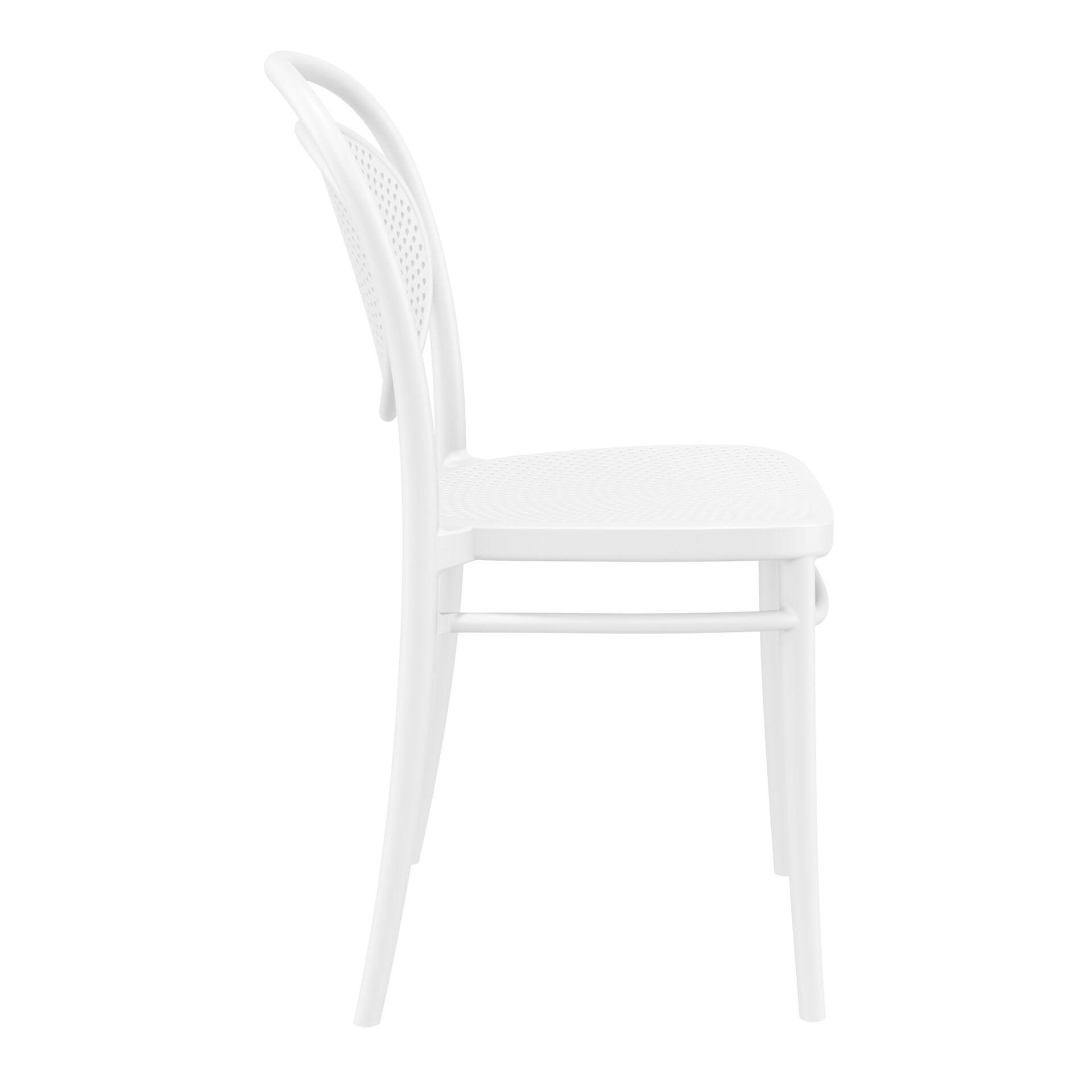 restaurant plastic dining marcel chair white side