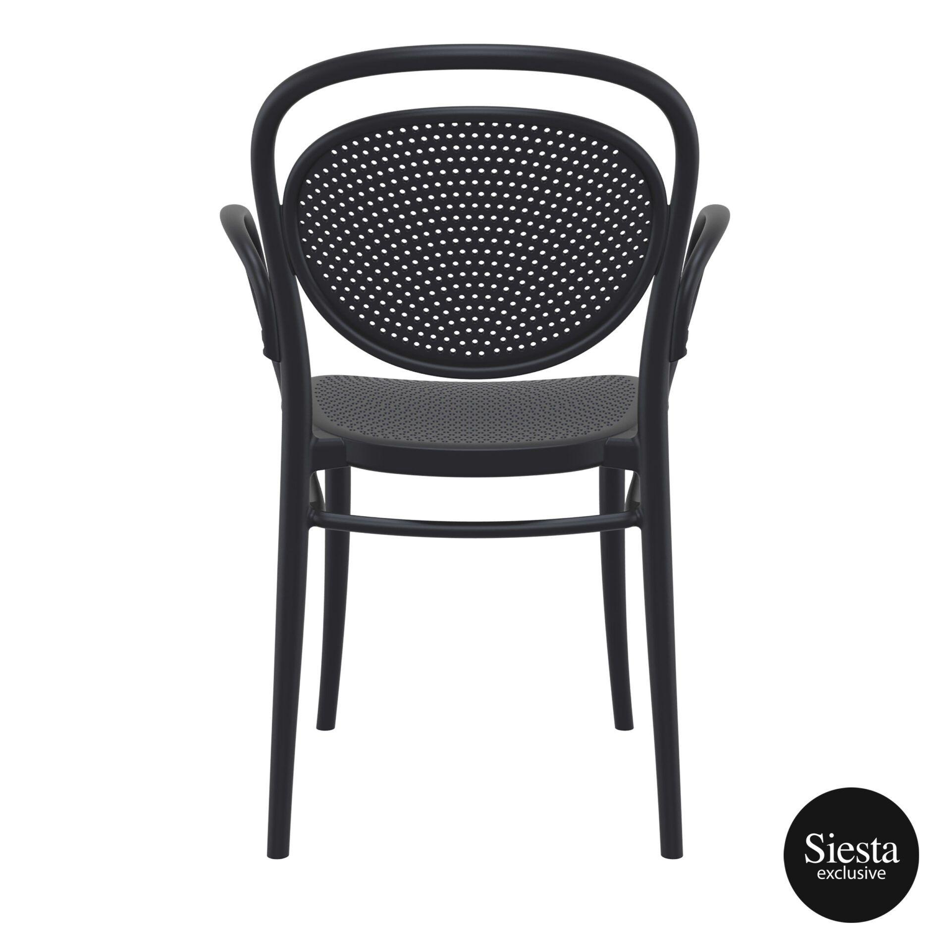 restaurant plastic dining marcel xl armchair black back 1
