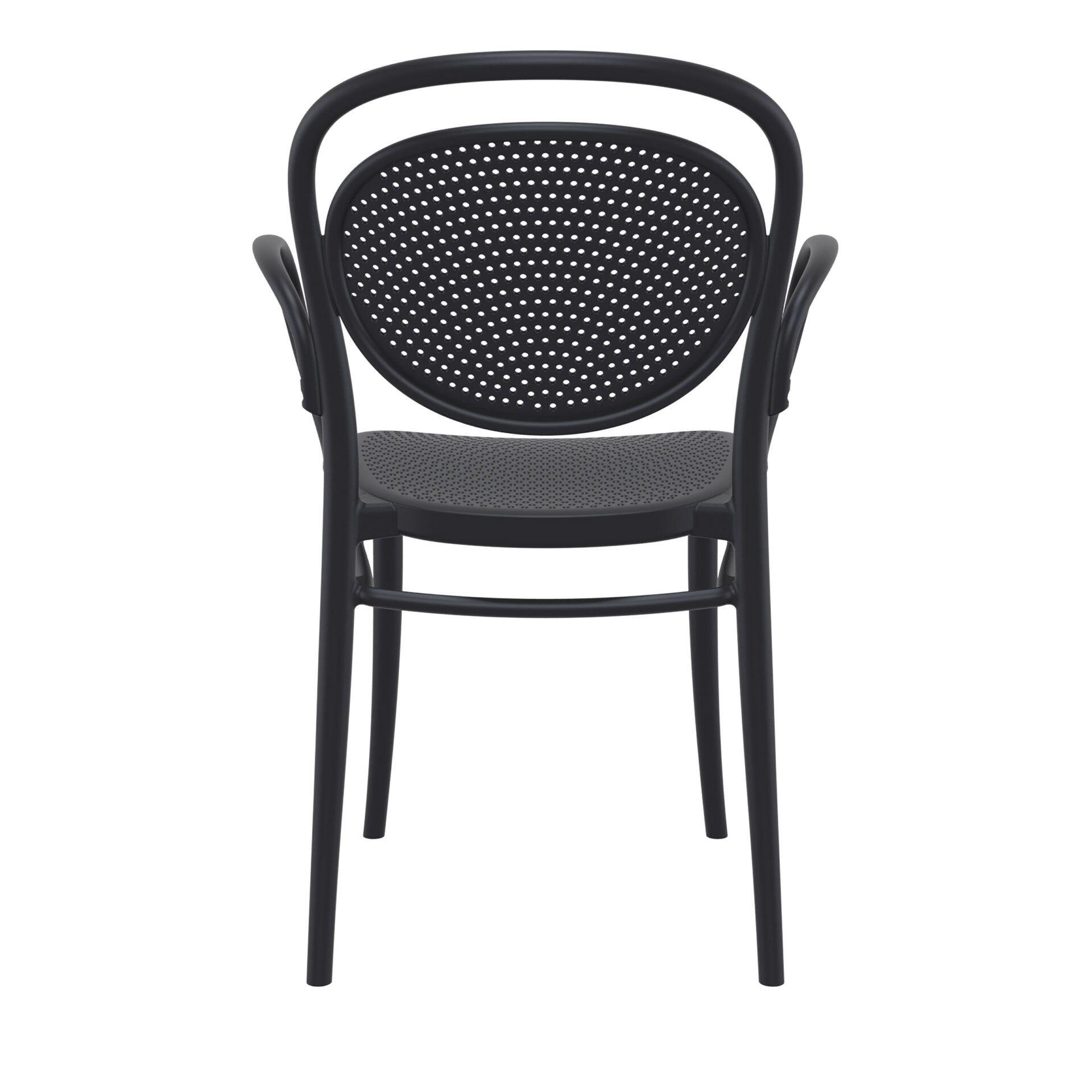restaurant plastic dining marcel xl armchair black back