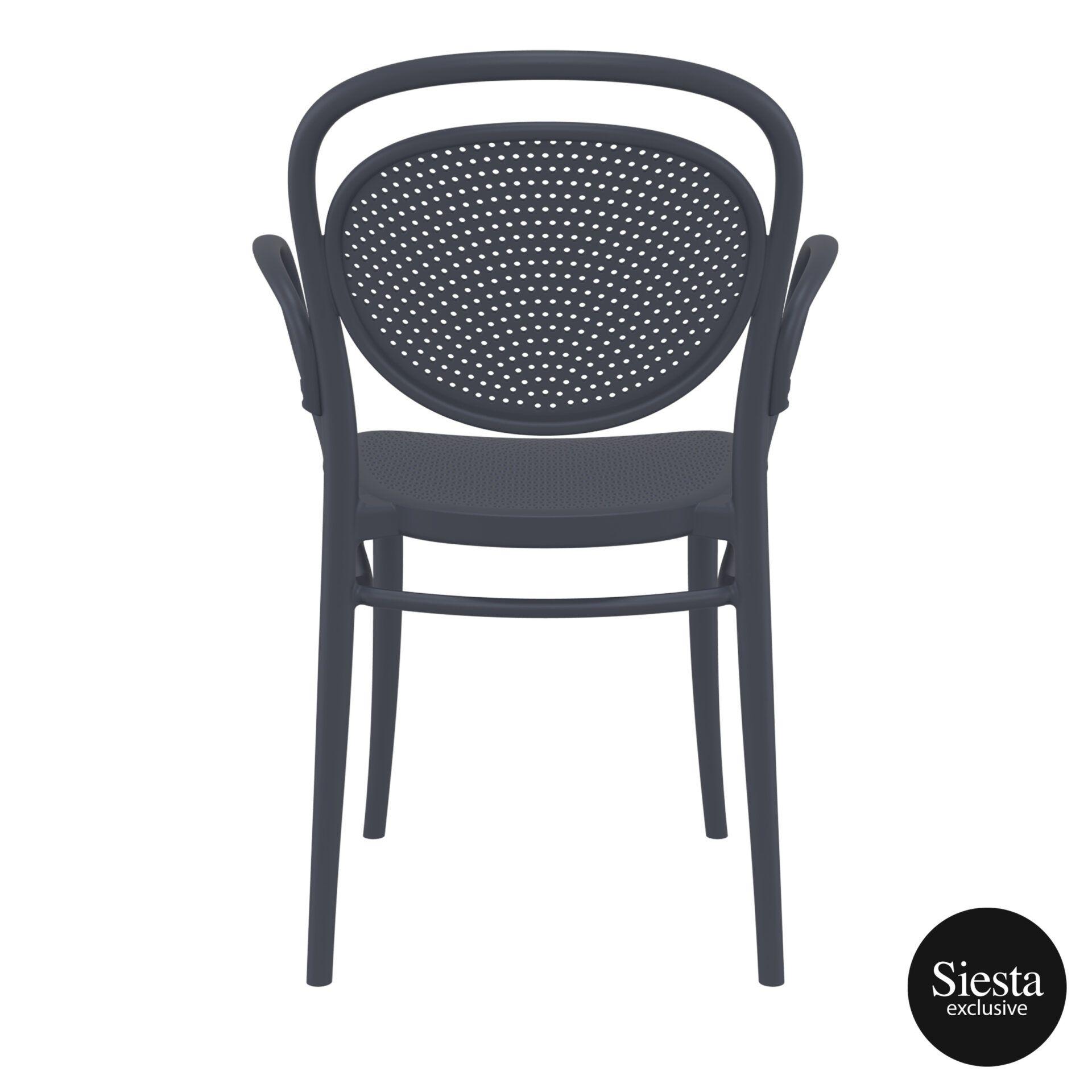 restaurant plastic dining marcel xl armchair darkgrey back 2