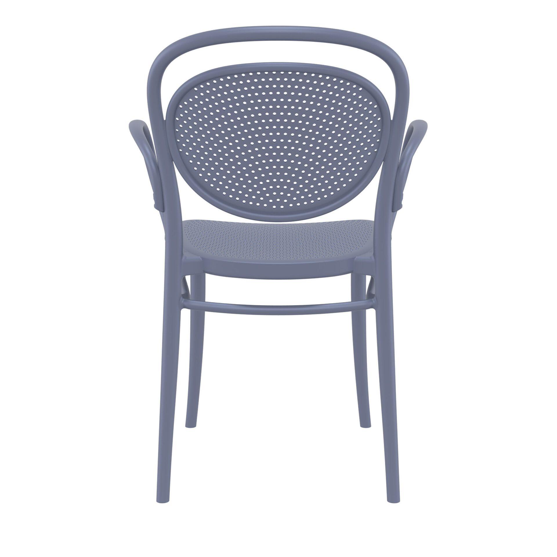 restaurant plastic dining marcel xl armchair darkgrey back