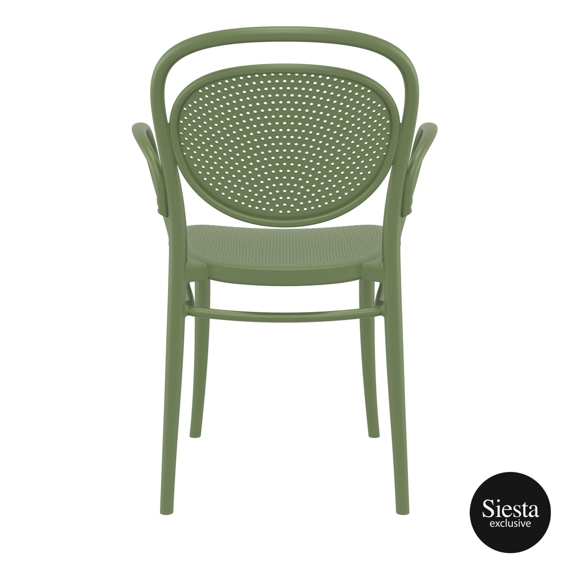 restaurant plastic dining marcel xl armchair olive green back 1