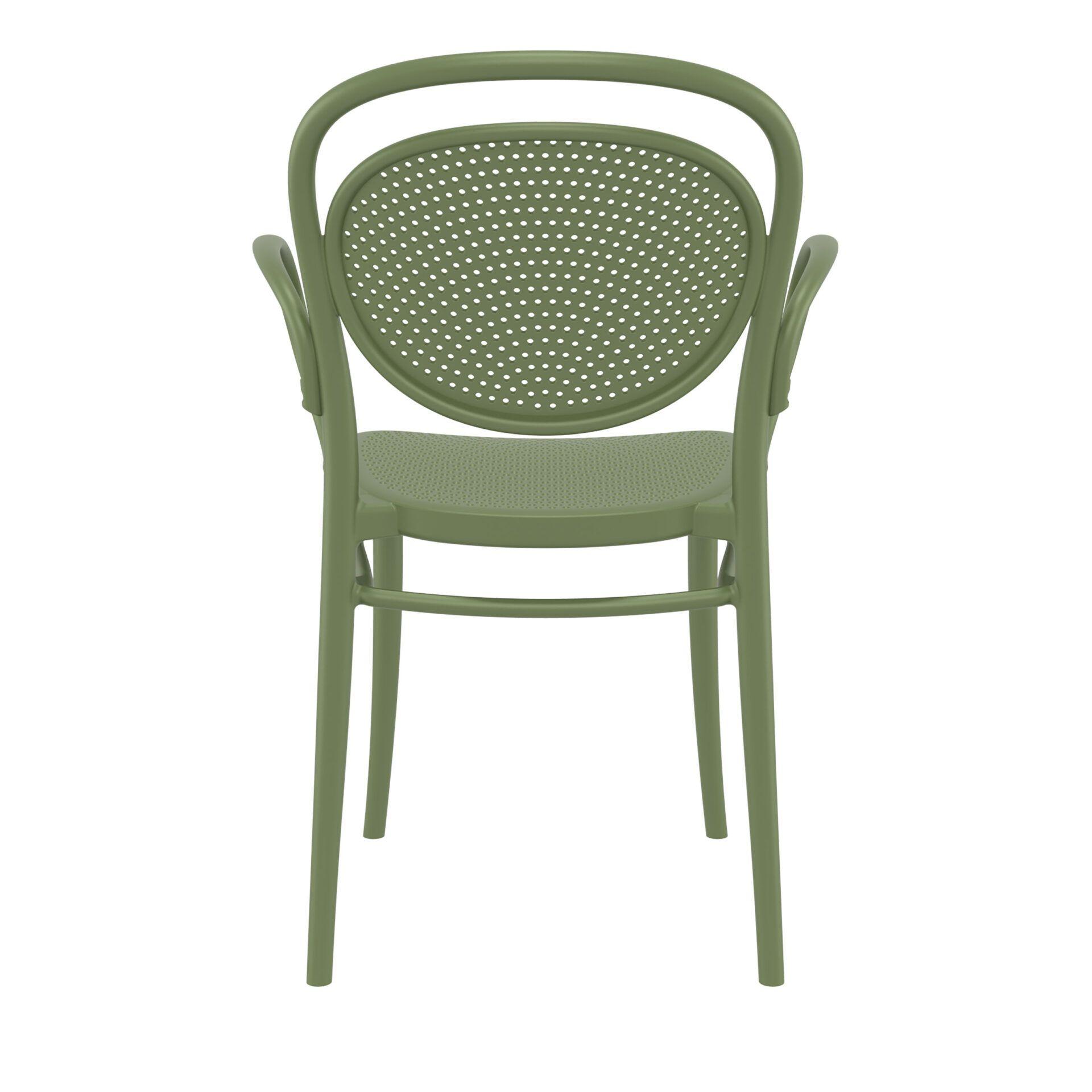 restaurant plastic dining marcel xl armchair olive green back