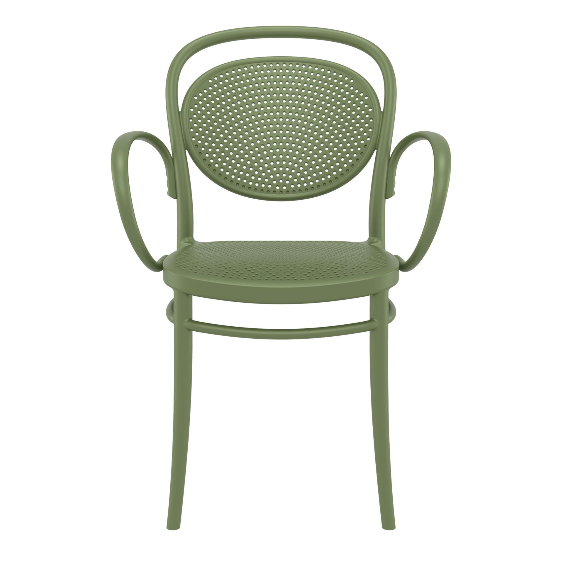restaurant plastic dining marcel xl armchair olive green front