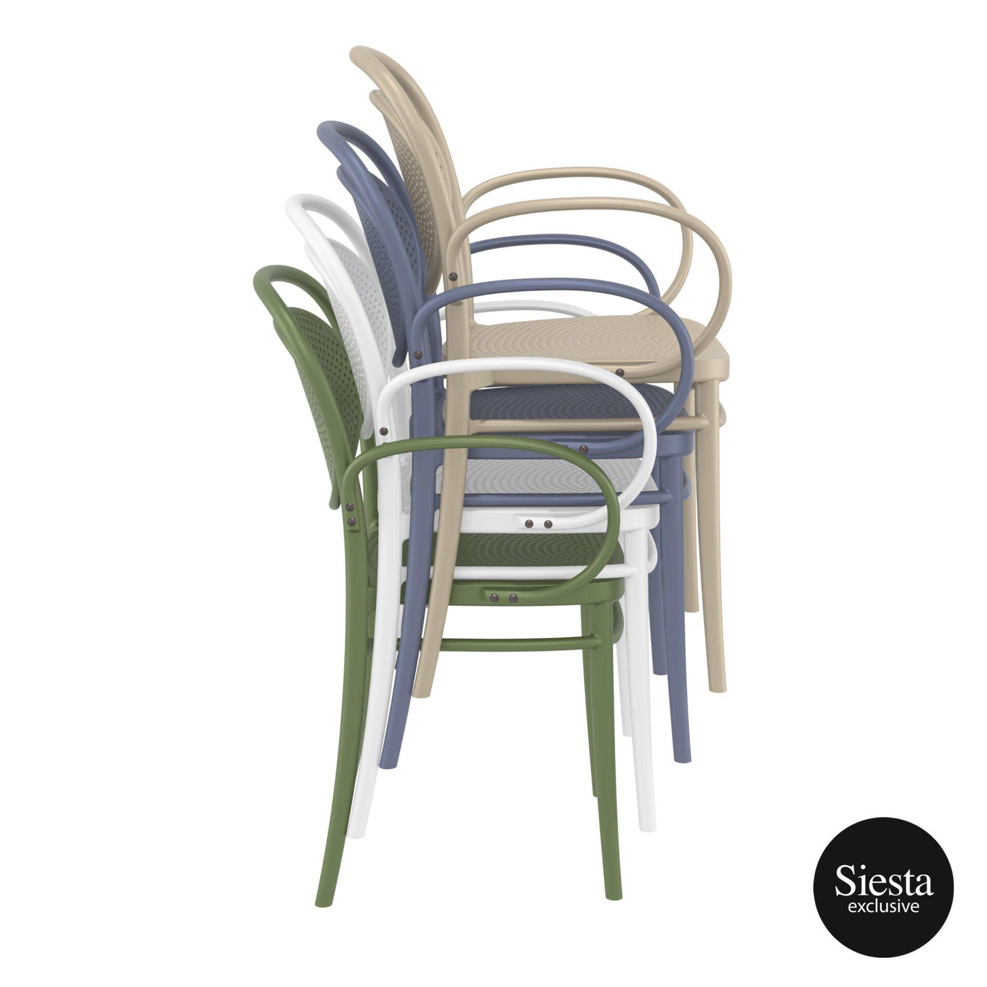 restaurant plastic dining marcel xl armchair stack 2